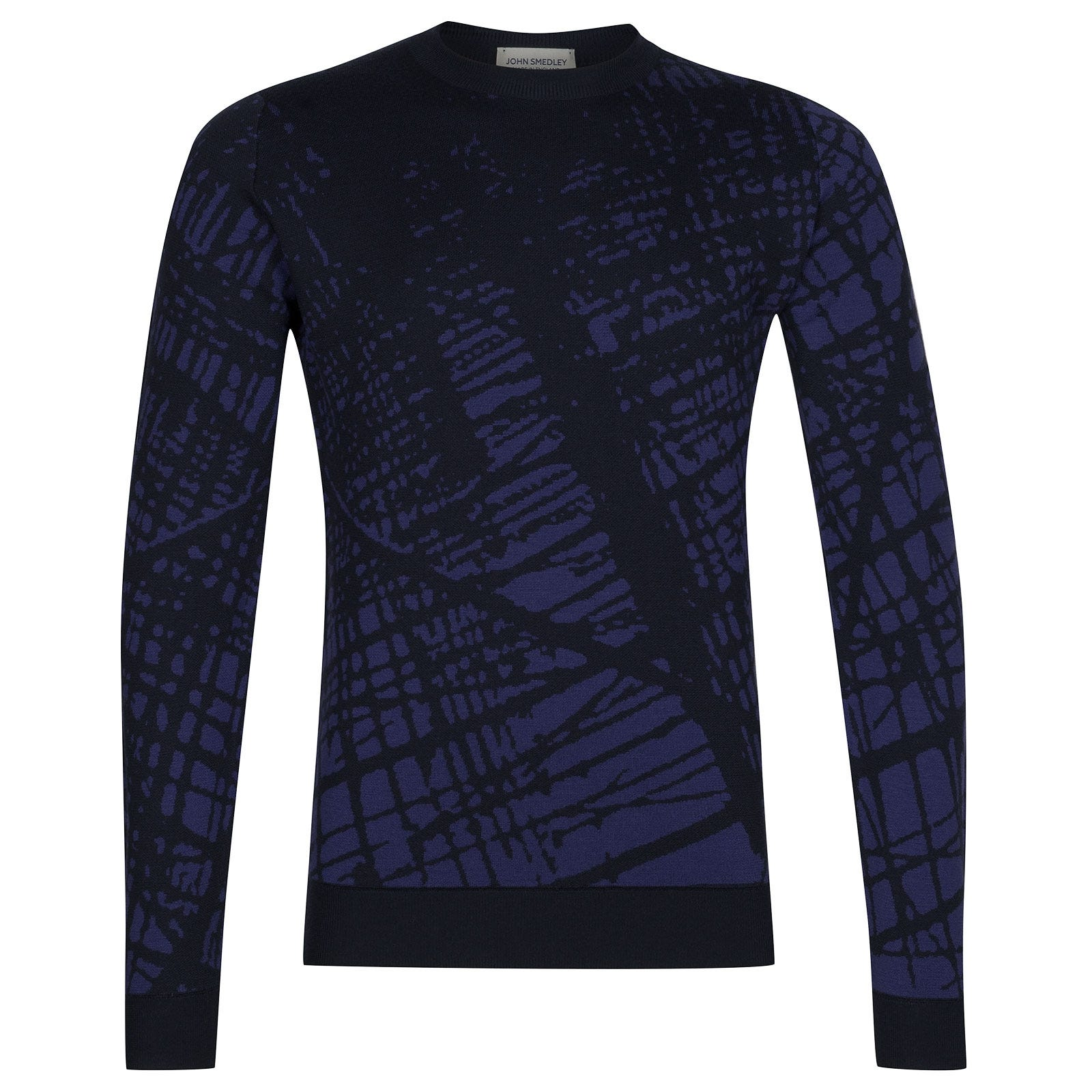 John Smedley Sagan Extra Fine Merino Wool Pullover in Midnight-XL