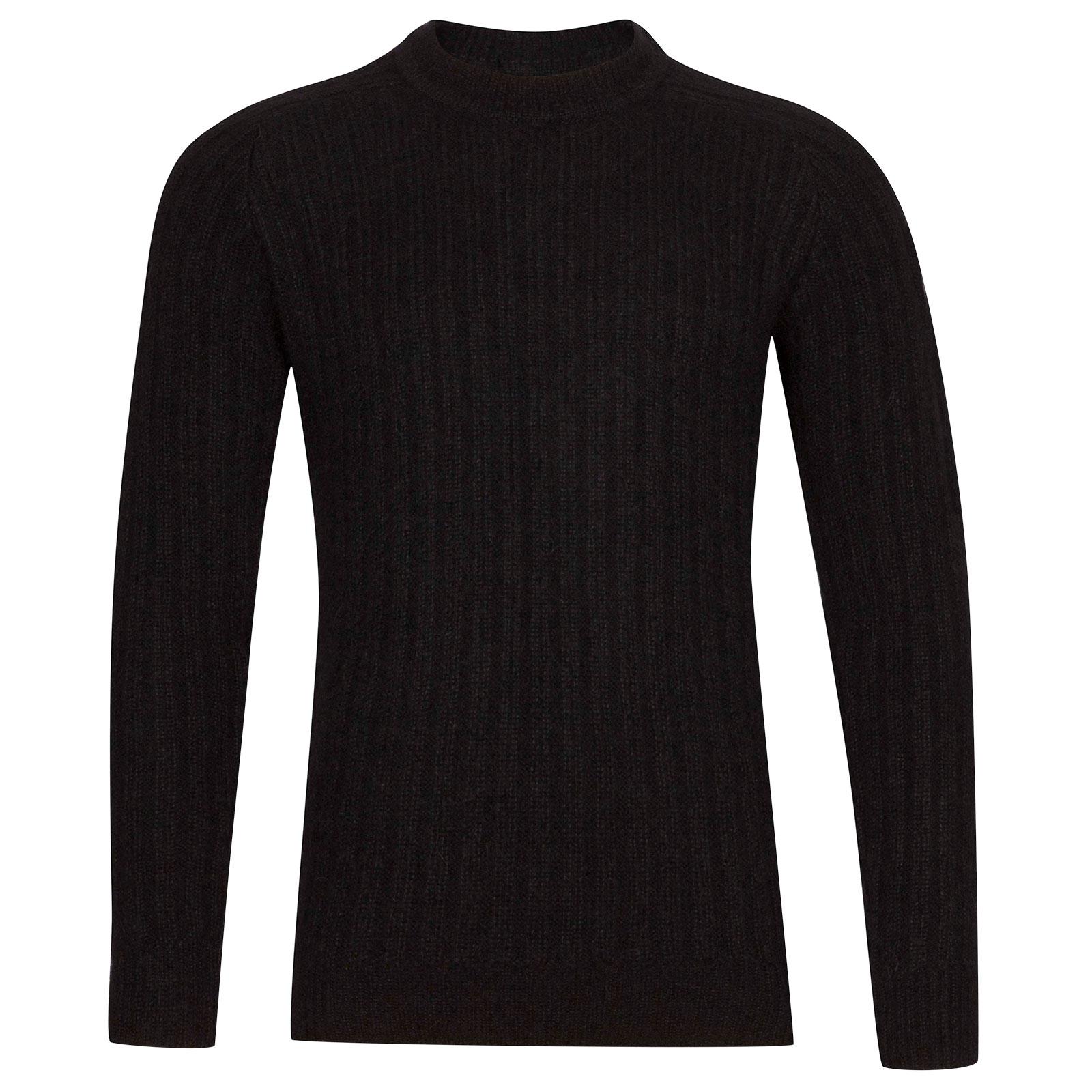 John Smedley Salke Viscose Blend Pullover In Black-L