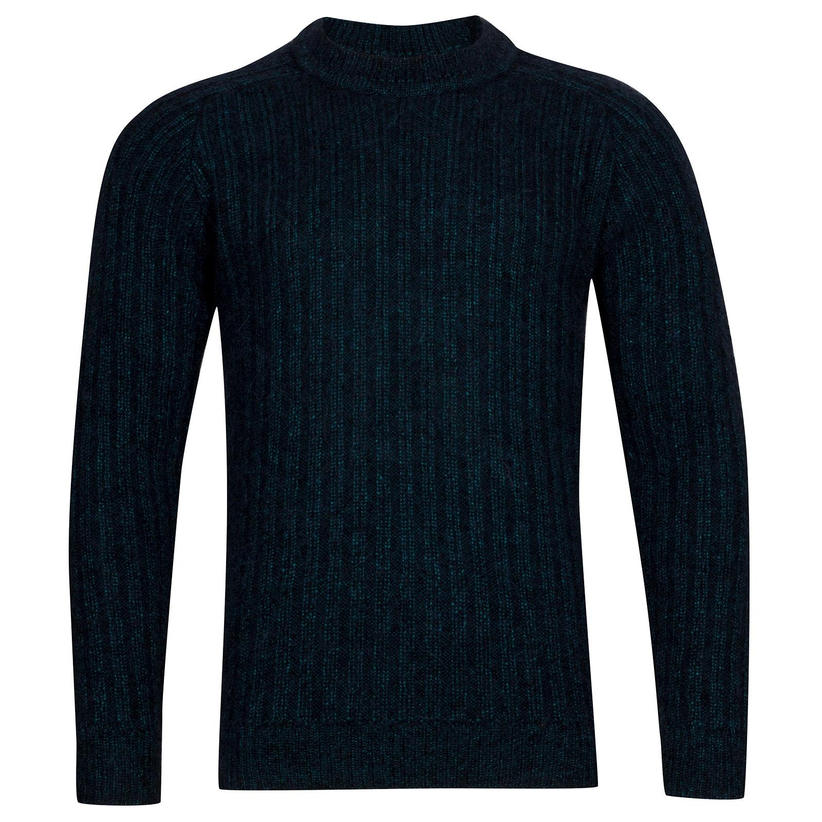 John Smedley Salke Viscose Blend Pullover In Boron Green-XXL