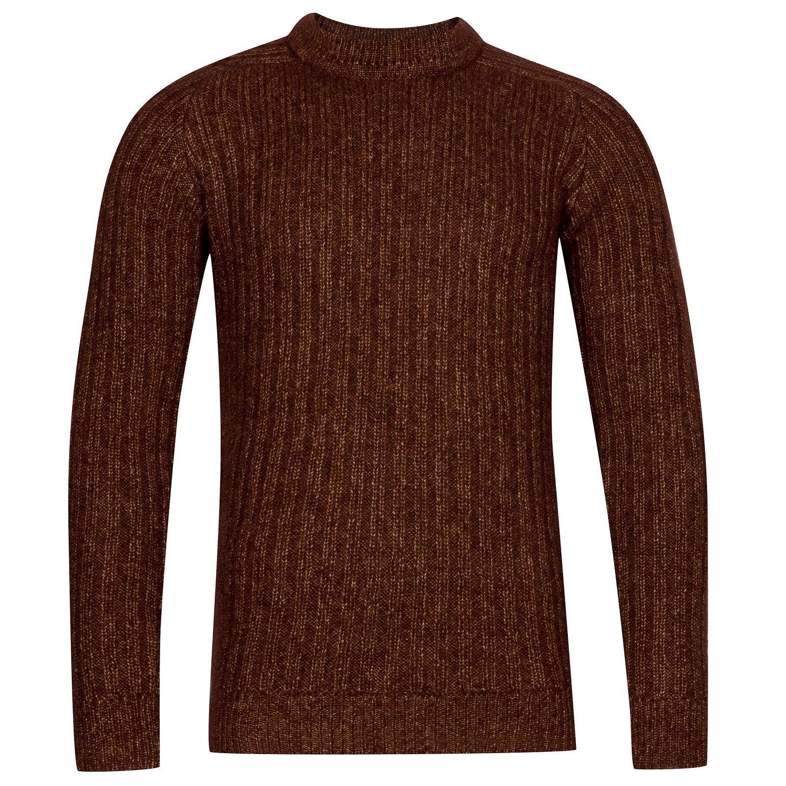 John Smedley Salke Viscose Blend Pullover In Bronze-M