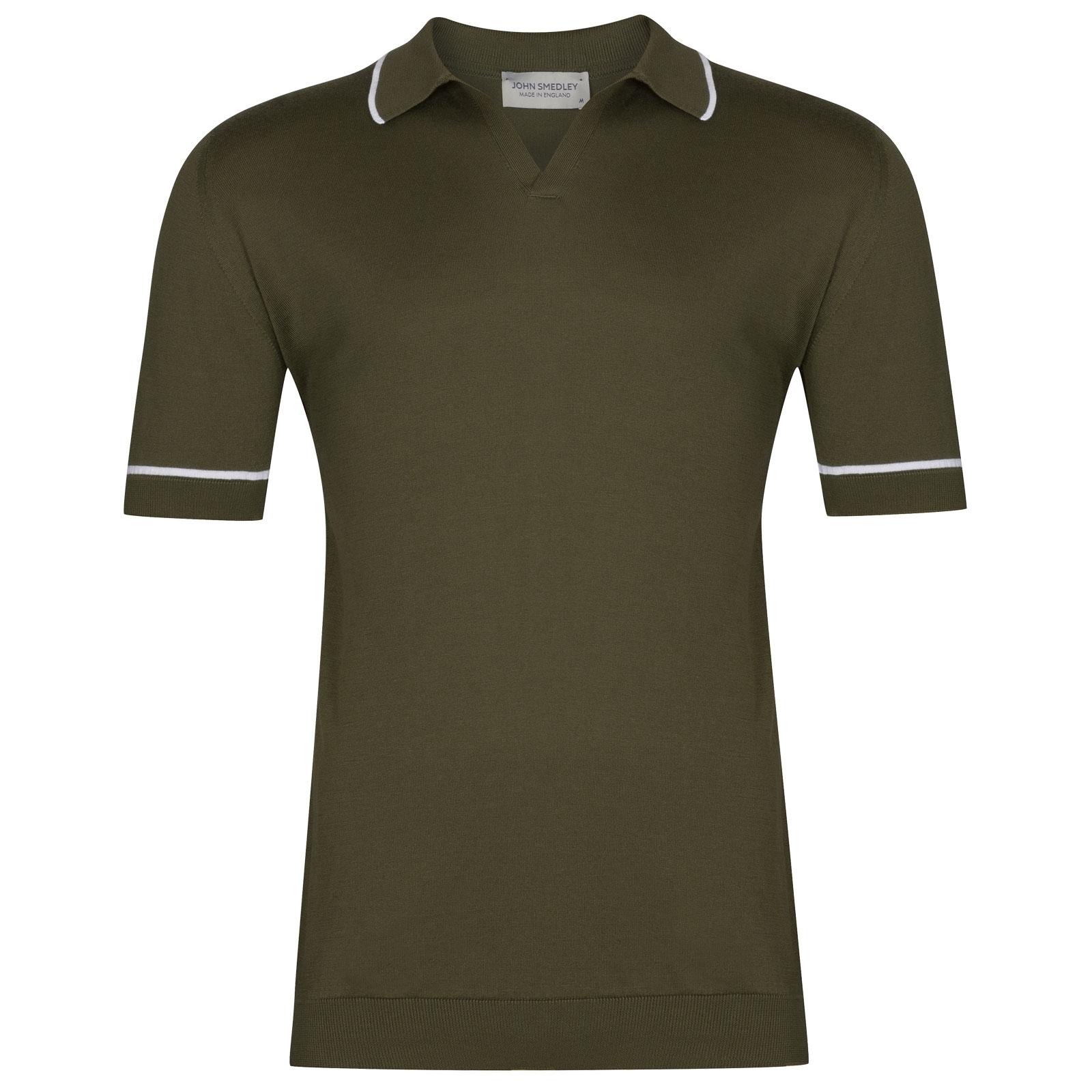 John Smedley Saxon in Sepal Green Shirt-XLG
