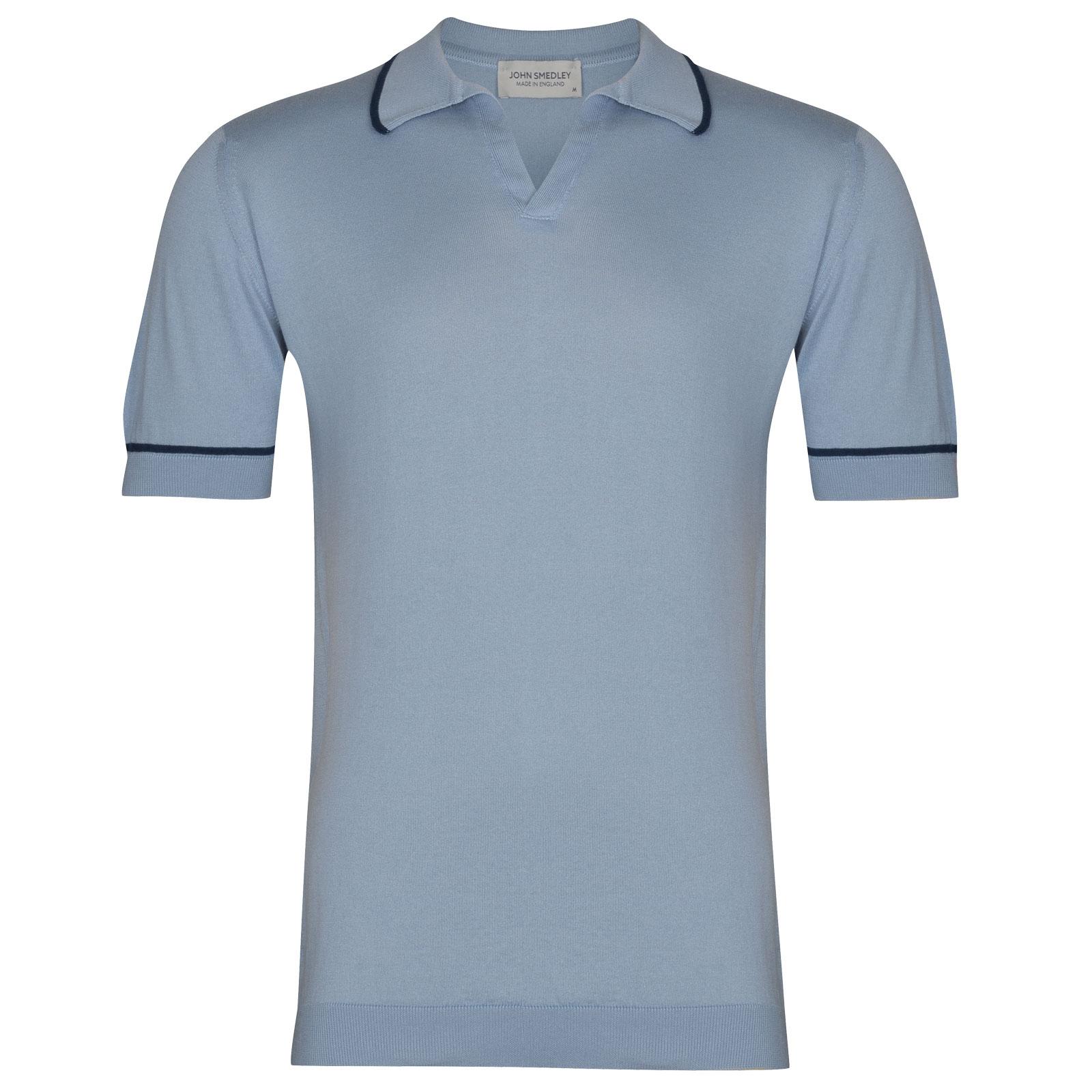 John Smedley Saxon in Dusk Blue Shirt-LGE