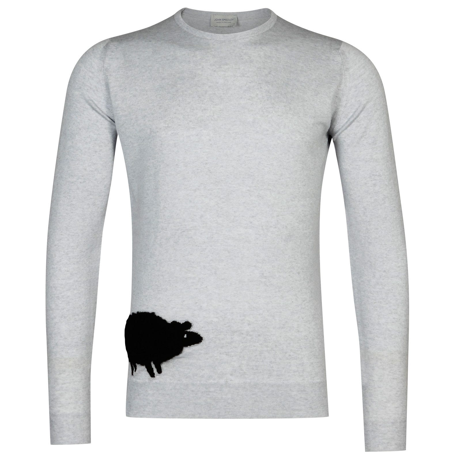 John Smedley Sheep Merino Wool Sweater in Kielder Green/Black-M