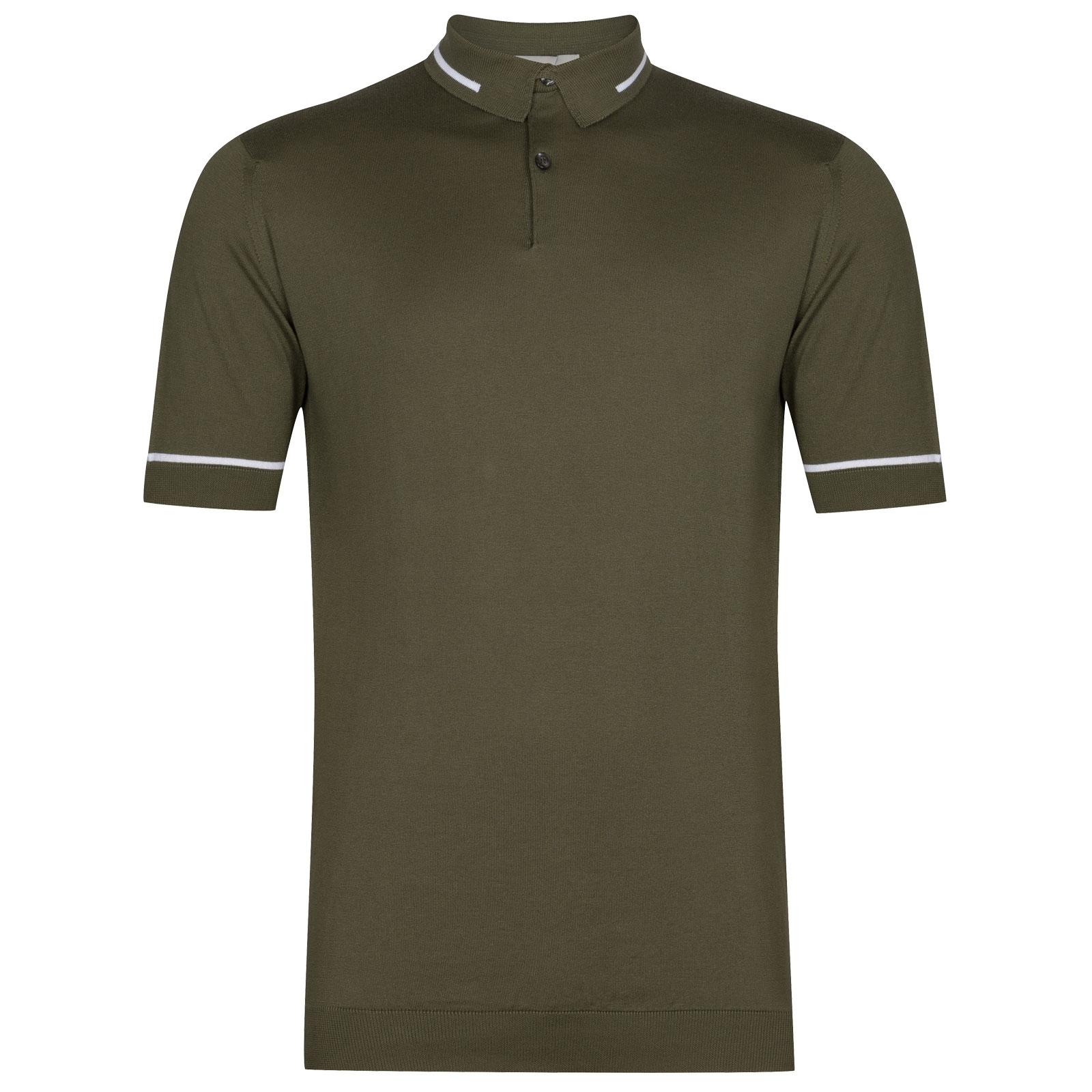 John Smedley Sheldon in Sepal Green Shirt-XLG