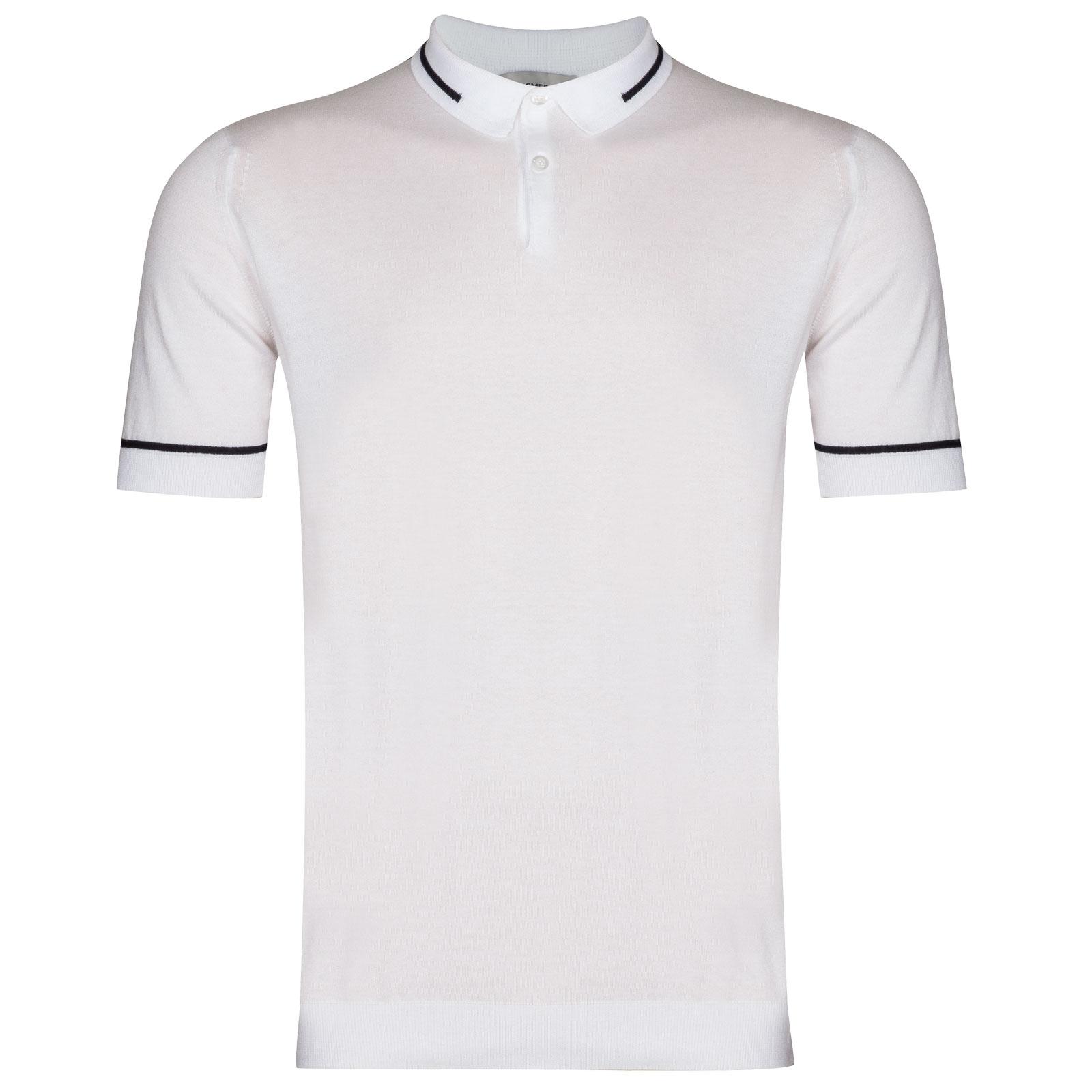 John Smedley Sheldon in White Shirt-XXL