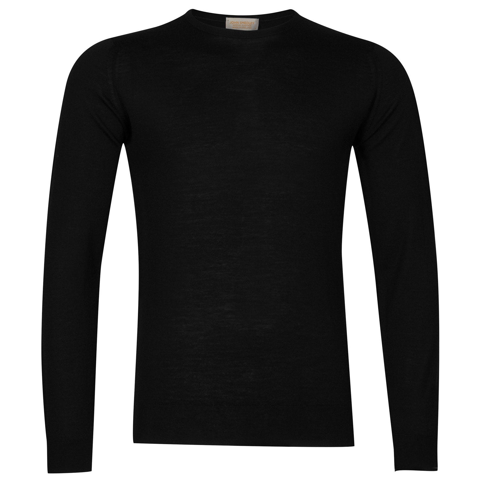 John Smedley sherman Merino Wool and Cashmere Pullover in Black-S