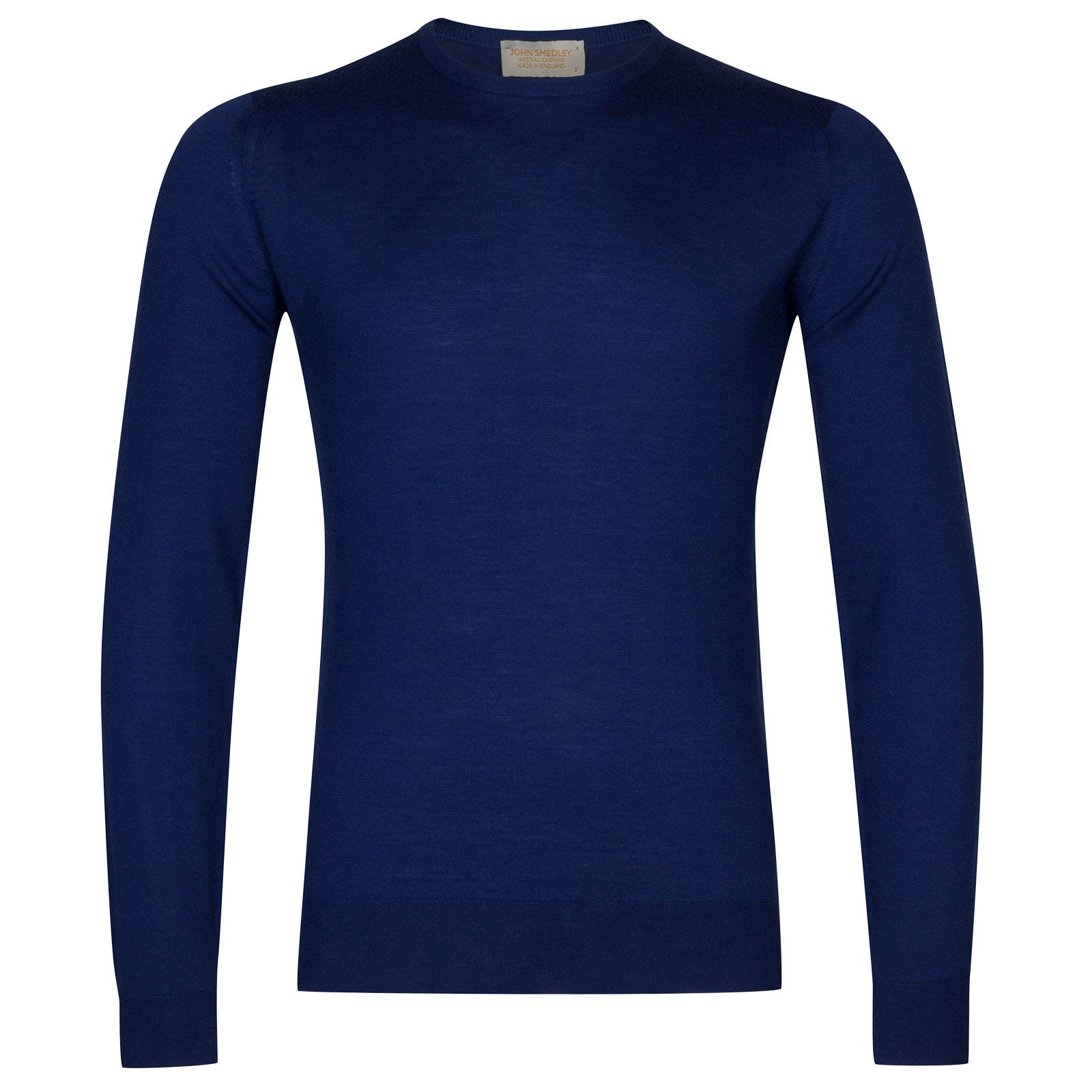 John Smedley sherman Merino Wool and Cashmere Pullover in Blue Lake-S