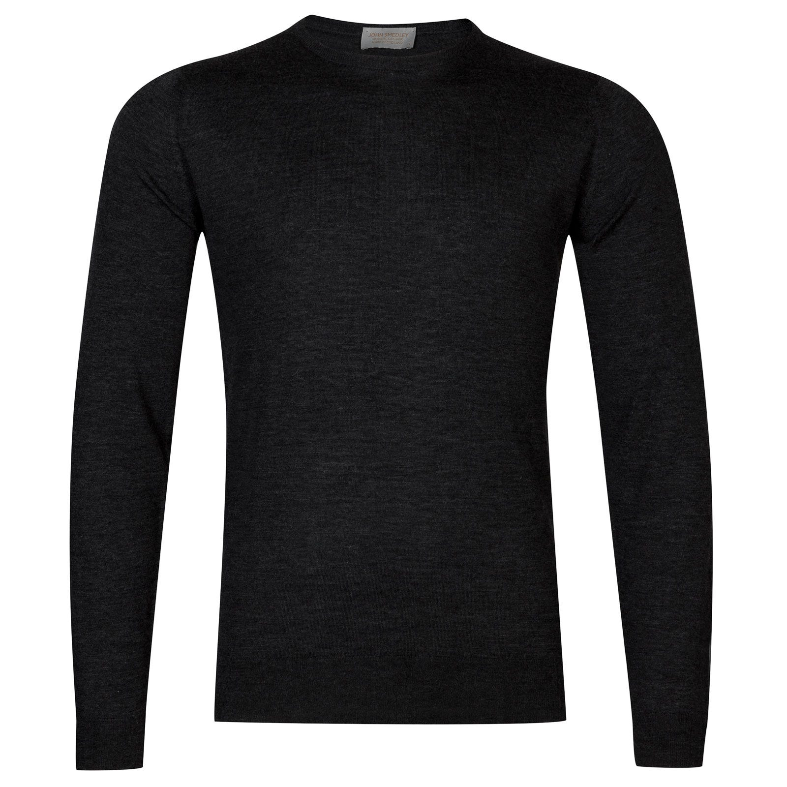 John Smedley sherman Merino Wool and Cashmere Pullover in Charcoal-XXL