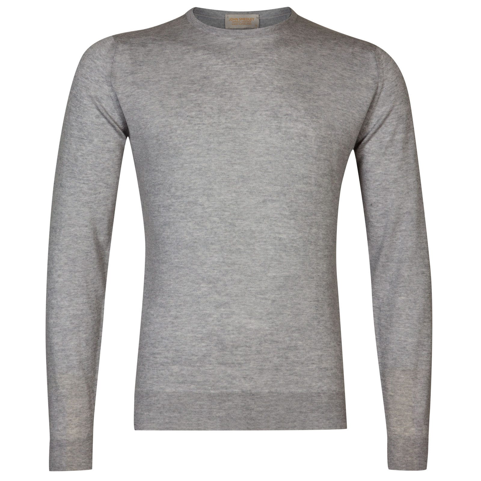 John Smedley sherman Merino Wool and Cashmere Pullover in Soft Grey-XL