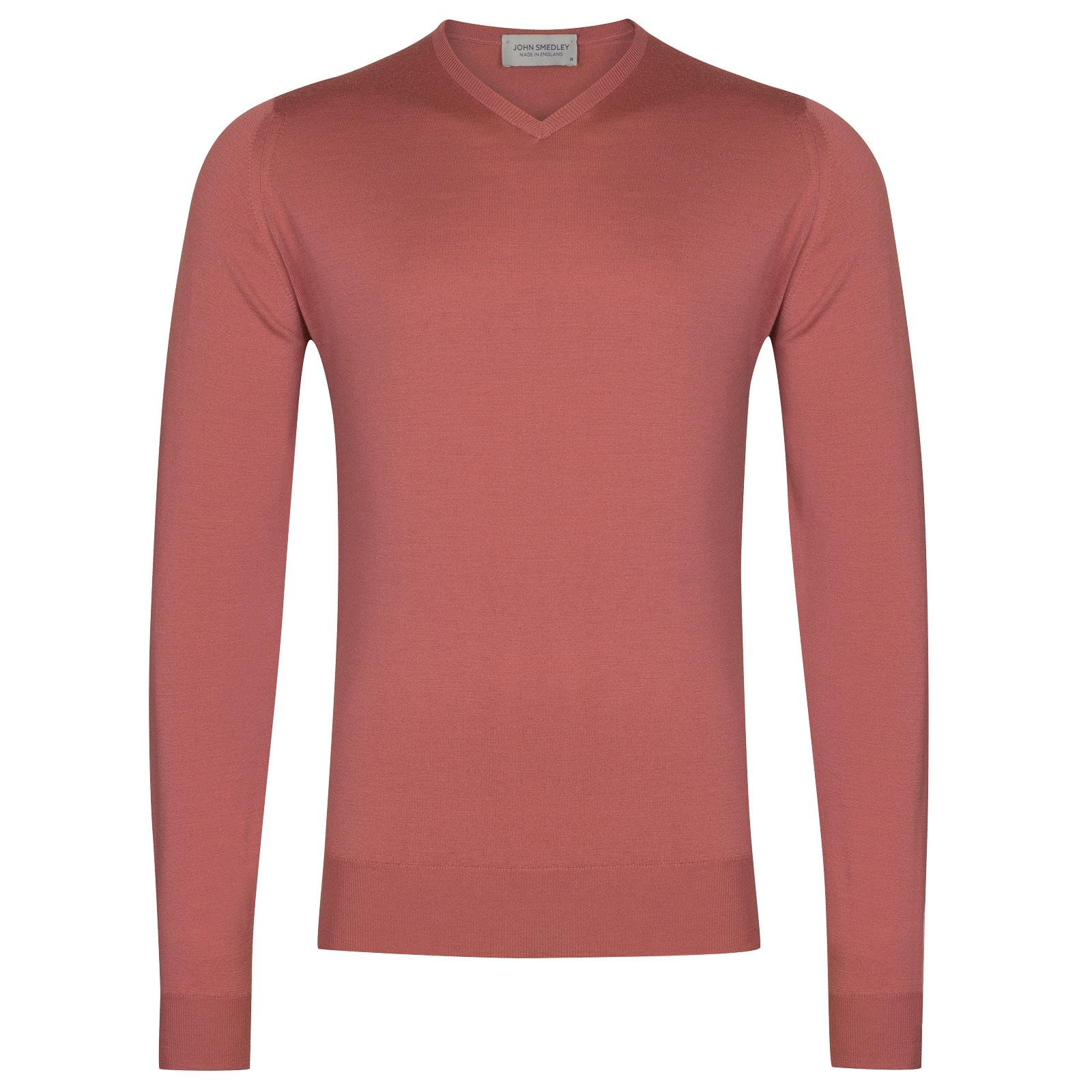 John Smedley Shipton in Azalea Pink Pullover-XLG