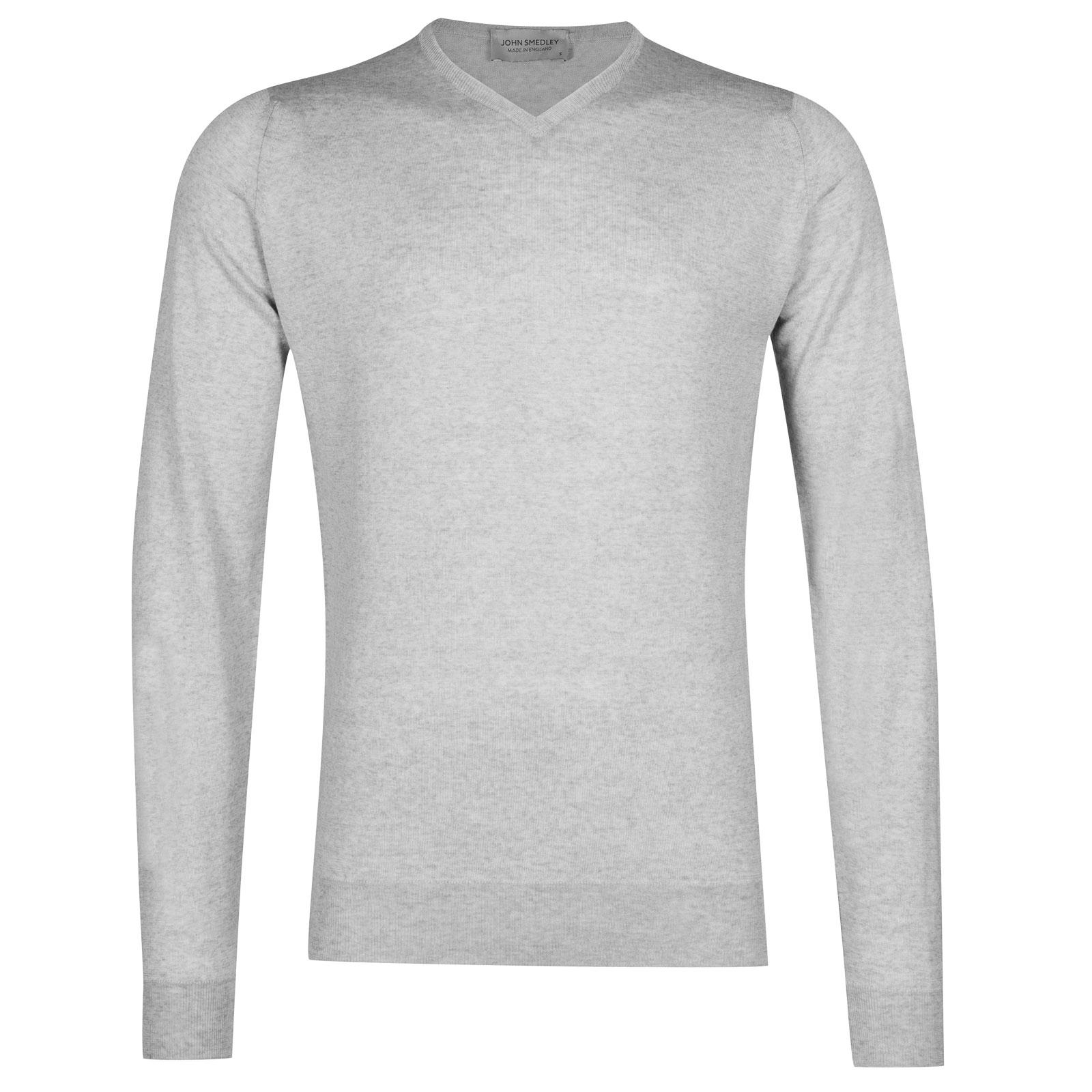 John Smedley shipton Merino Wool Pullover in Bardot Grey-S