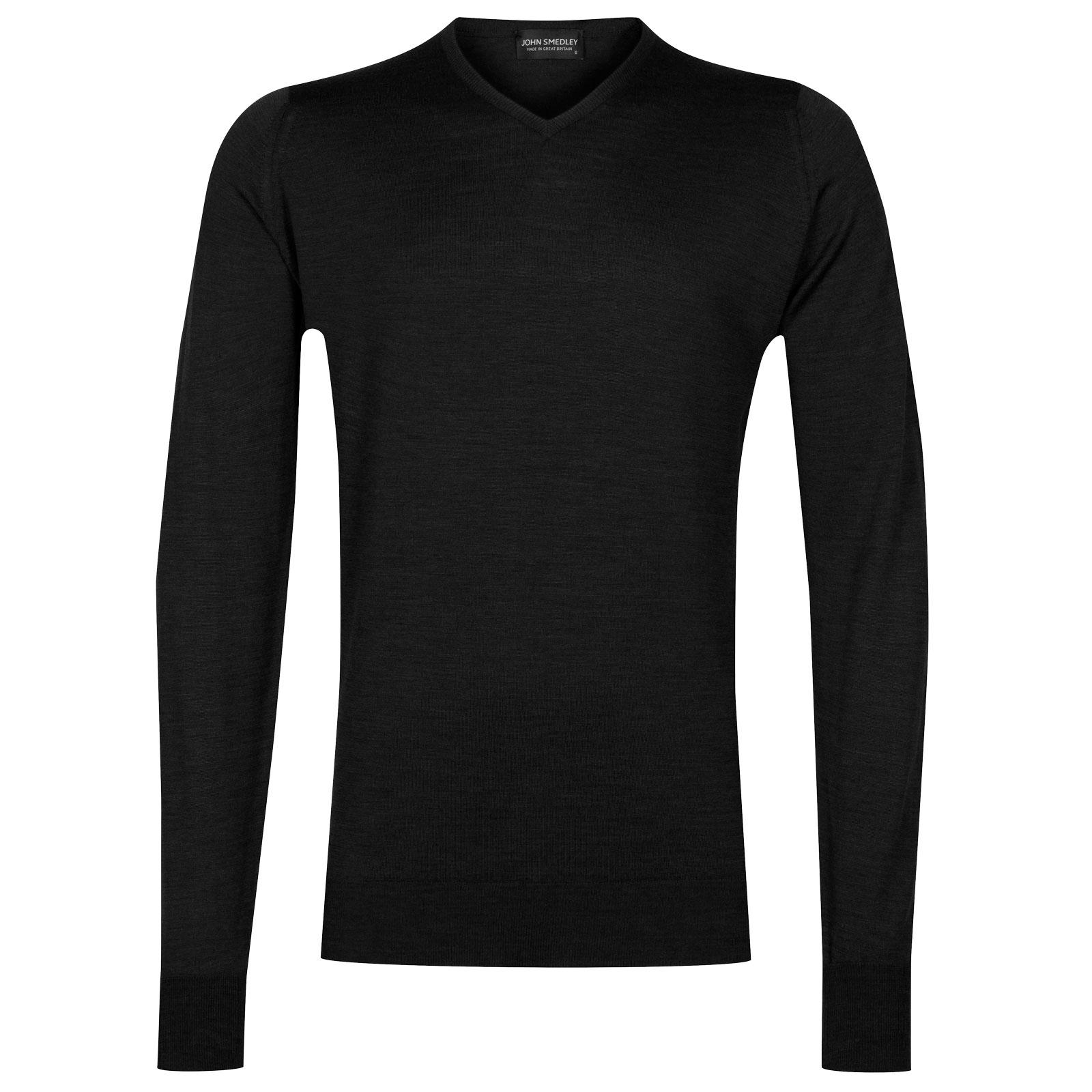 John Smedley shipton Merino Wool Pullover in Black-M