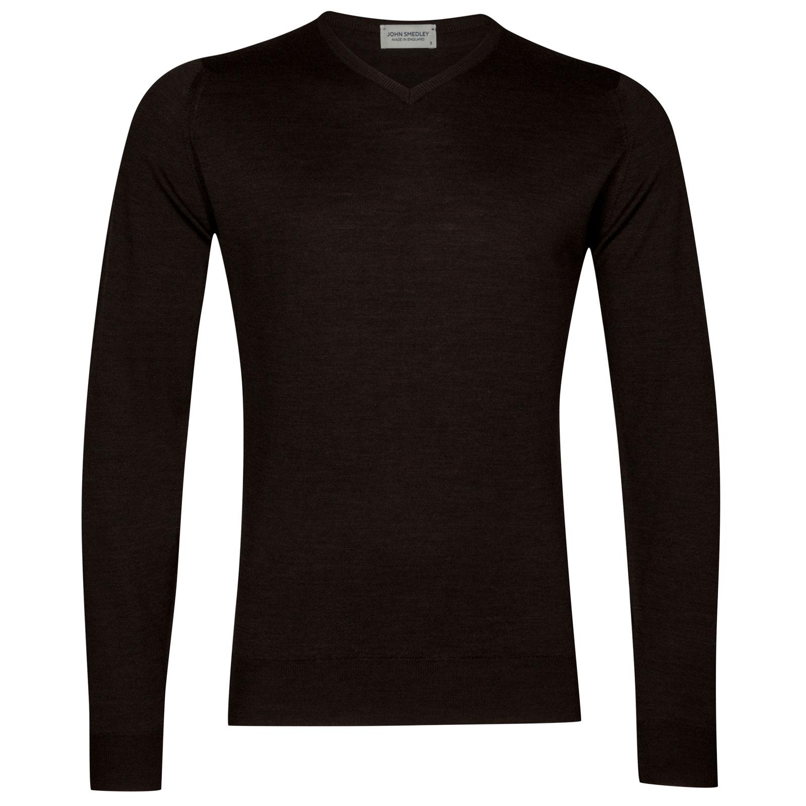 John Smedley shipton Merino Wool Pullover in Chestnut-XL