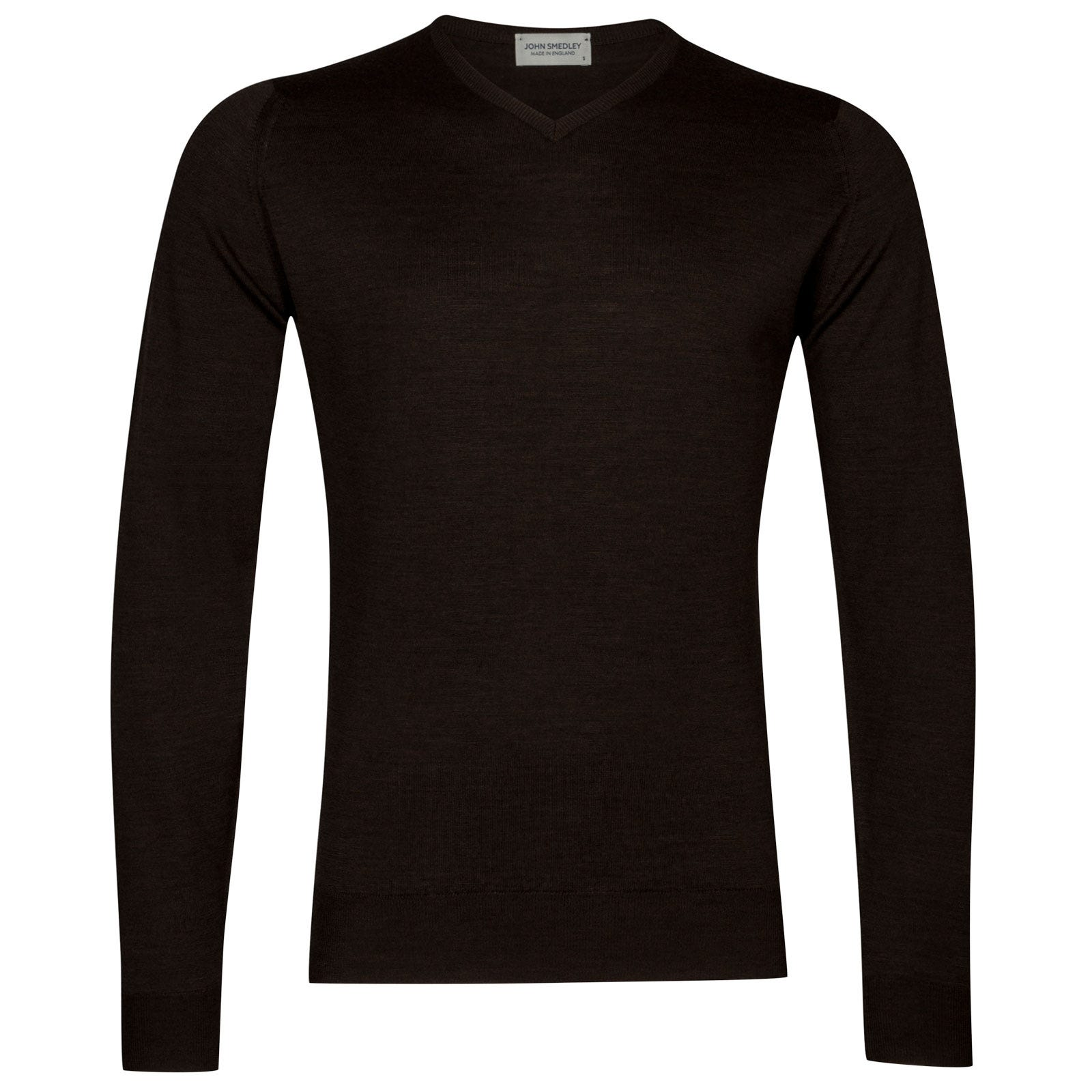 John Smedley Shipton Merino Wool Pullover in Chestnut-M