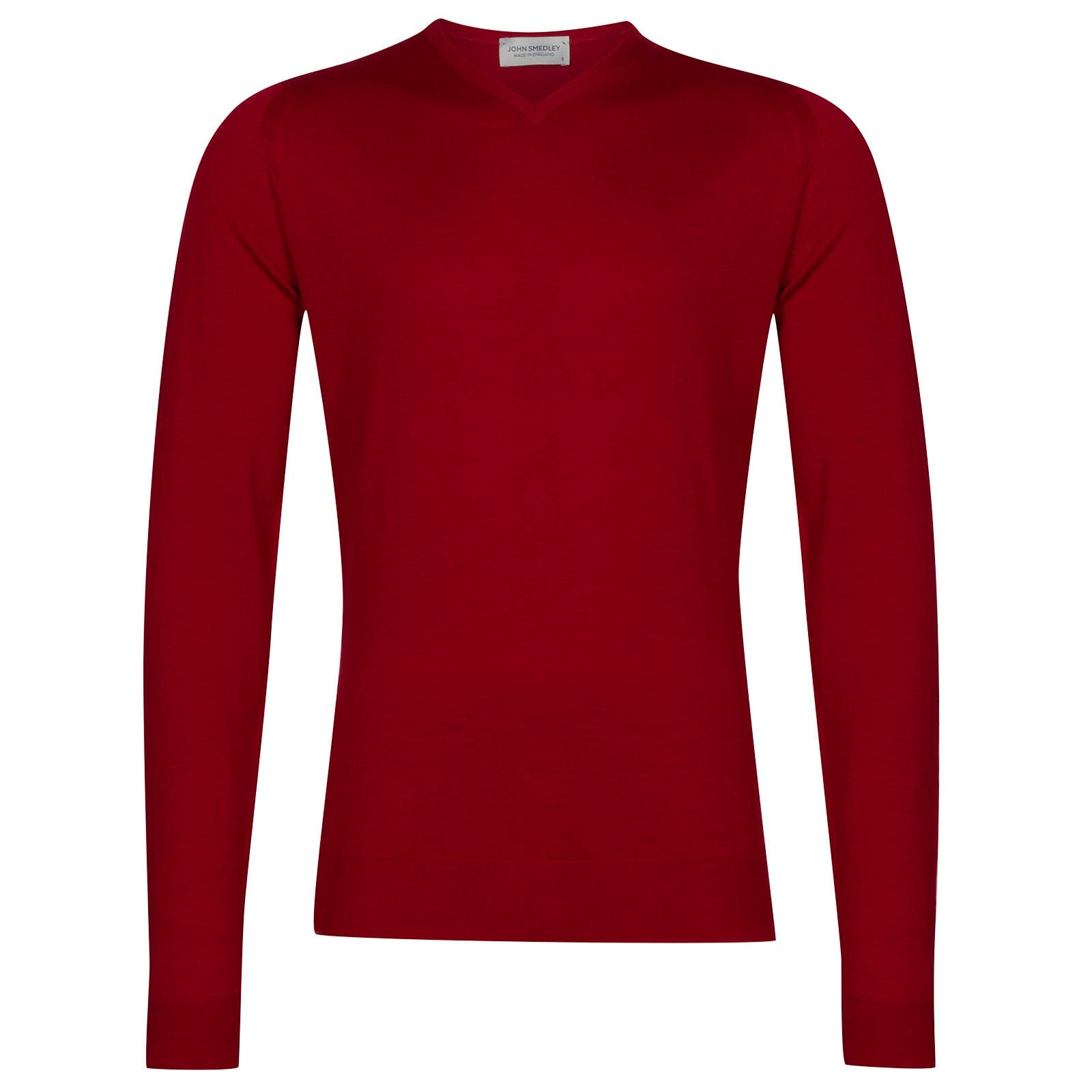 John Smedley shipton Merino Wool Pullover in Crimson Forest-S