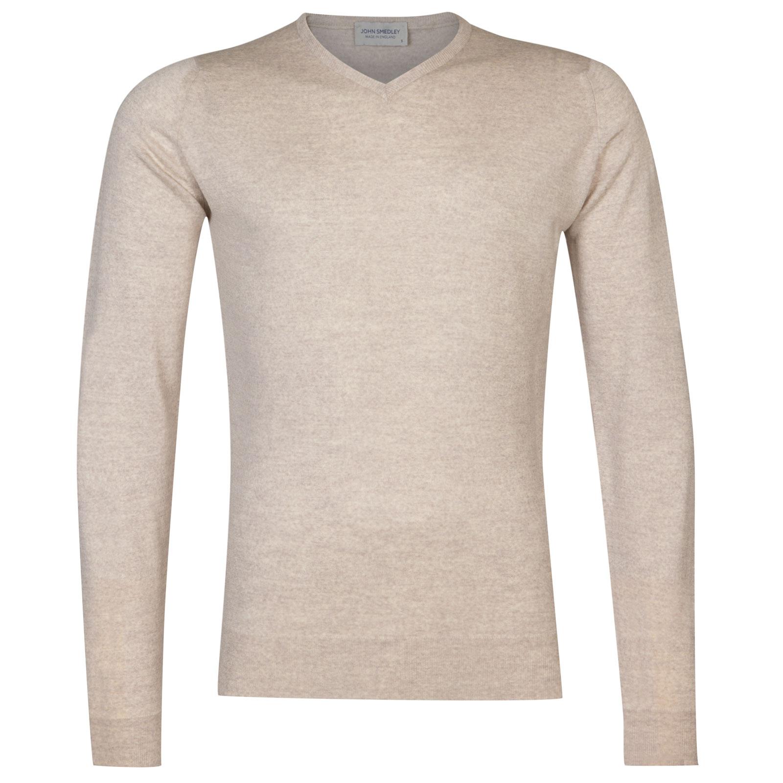 John Smedley Shipton Merino Wool Pullover in Eastwood Beige-XL