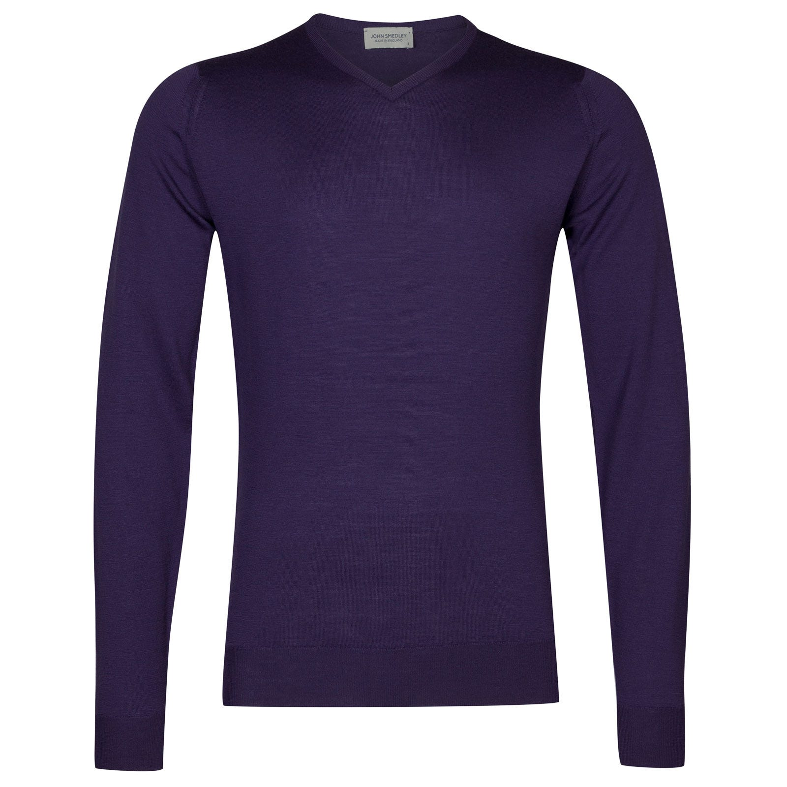John Smedley shipton Merino Wool Pullover in Elderberry Purple-XL