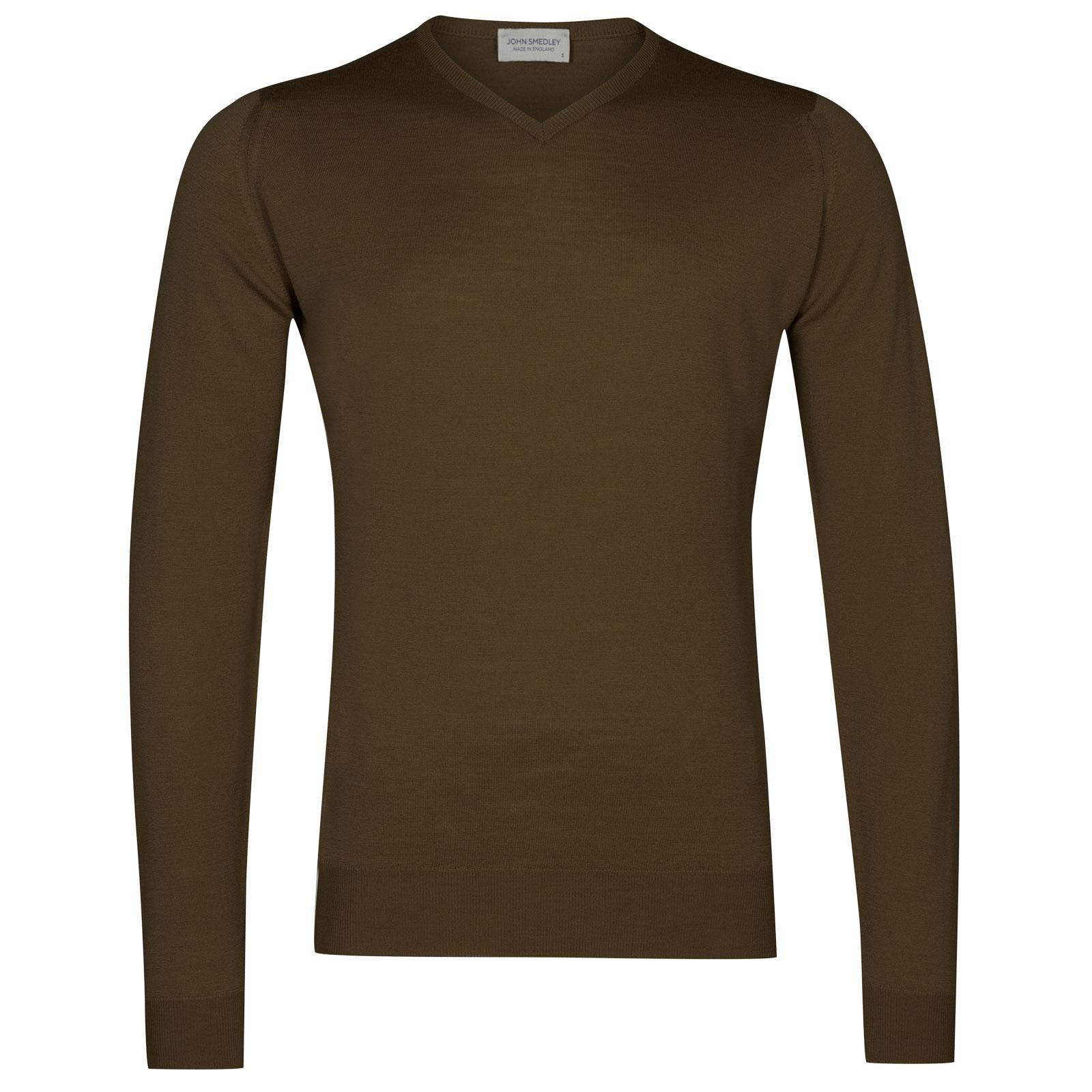 John Smedley shipton Merino Wool Pullover in Kielder Green-XL