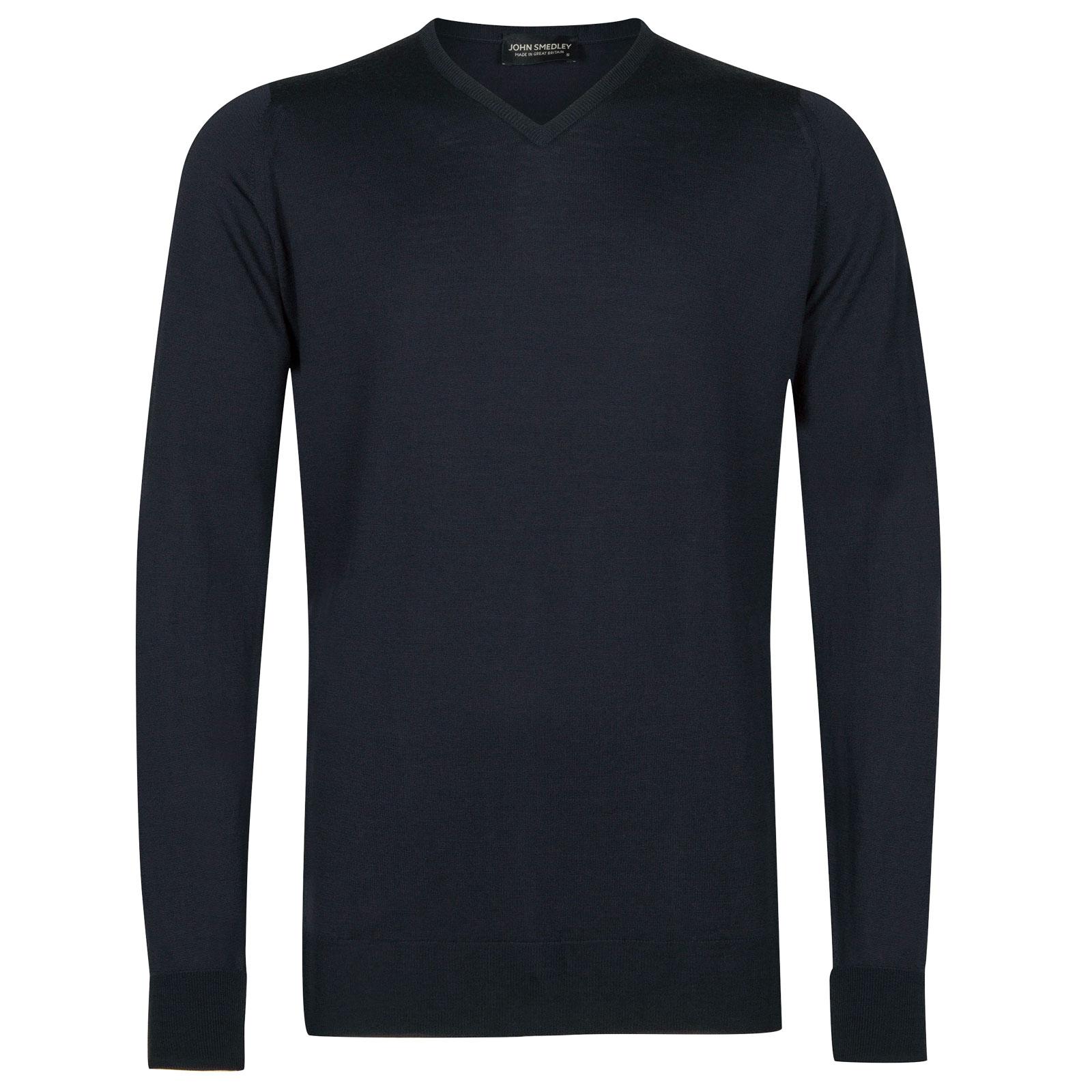 John Smedley shipton Merino Wool Pullover in Midnight-XXL