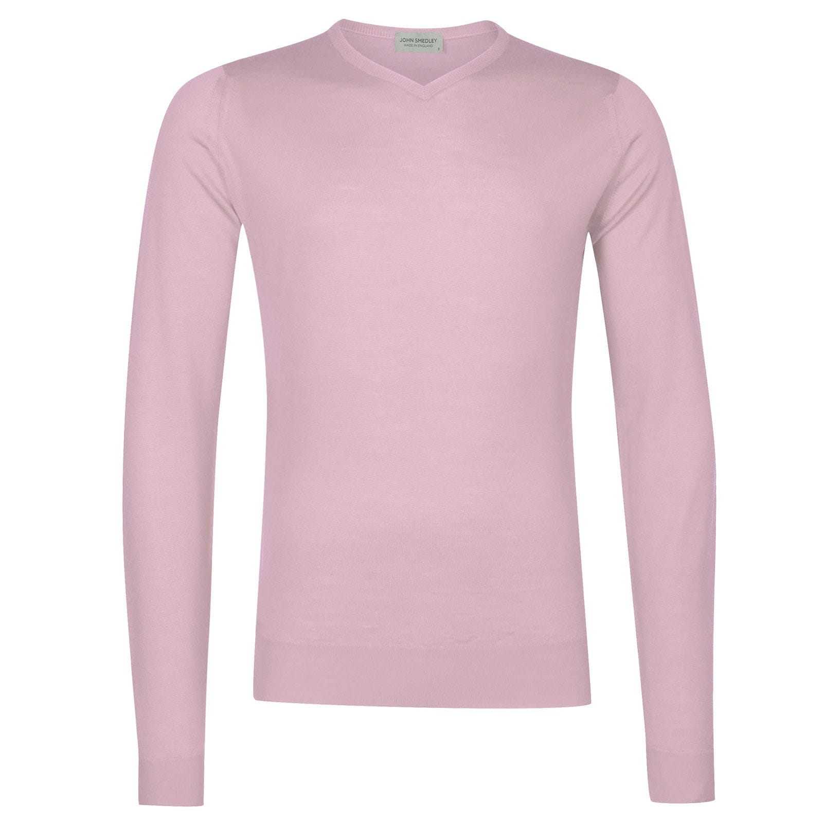 John Smedley Shipton in Pink Blossom Pullover-XLG