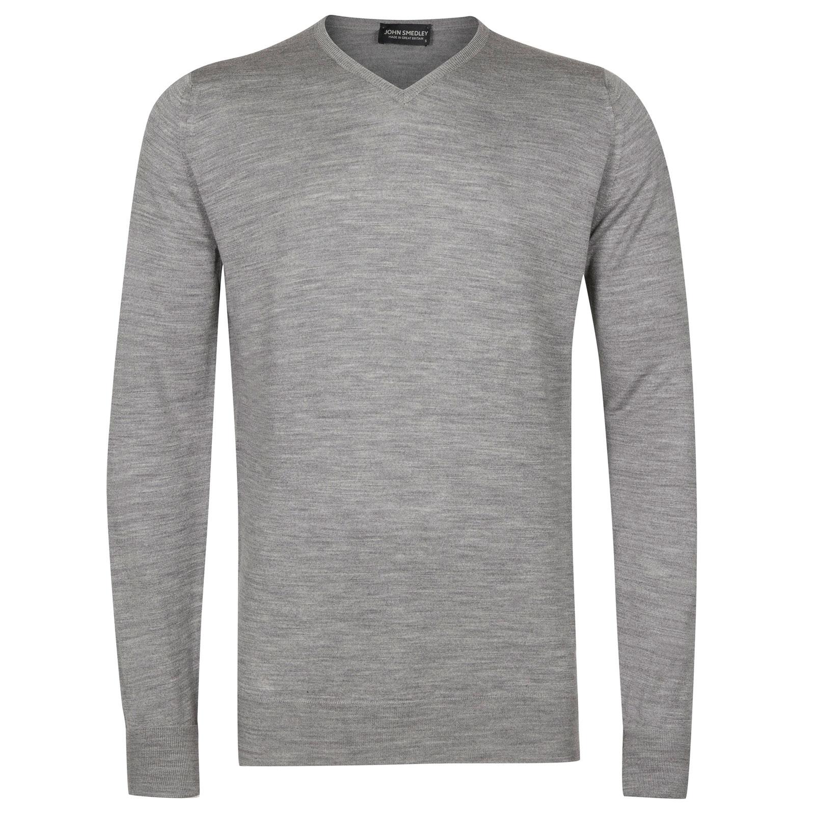 John Smedley shipton Merino Wool Pullover in Silver-L