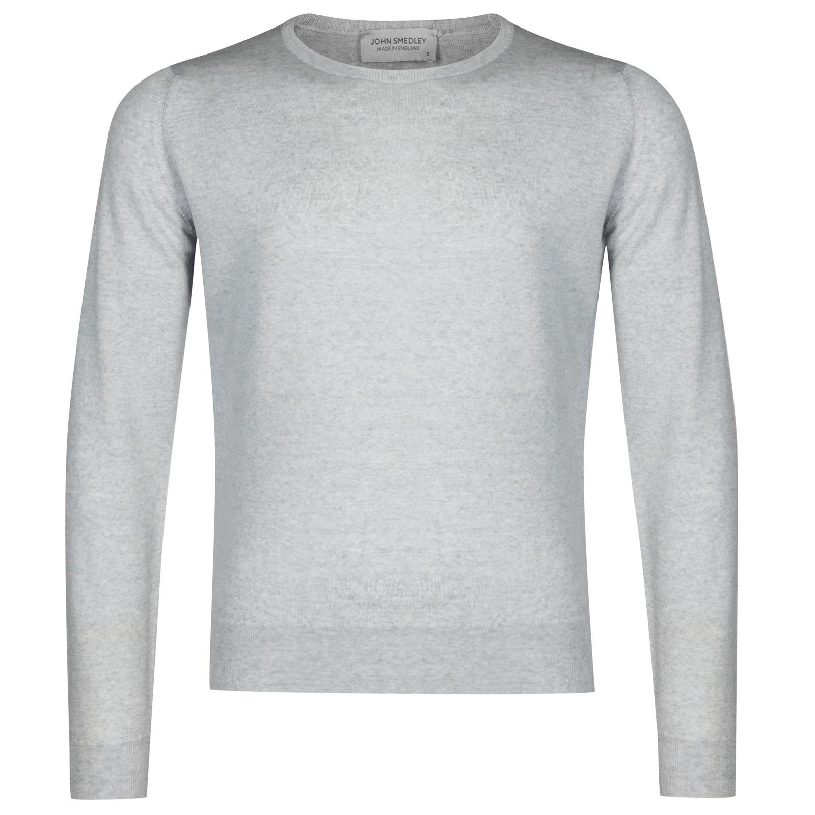John Smedley sicily Merino Wool Pullover in Bardot Grey-XL