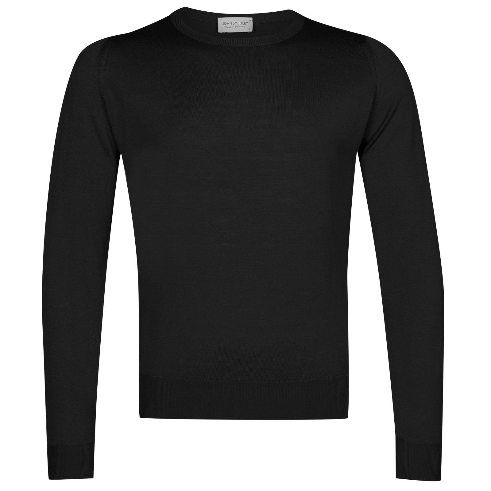 John Smedley sicily Merino Wool Pullover in Black-XXL