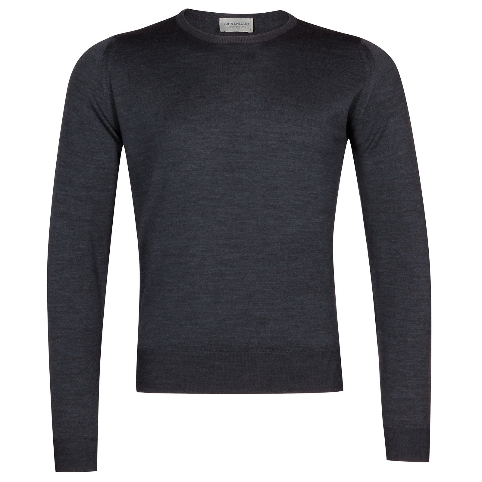 John Smedley Sicily Merino Wool Pullover in Charcoal-XXL