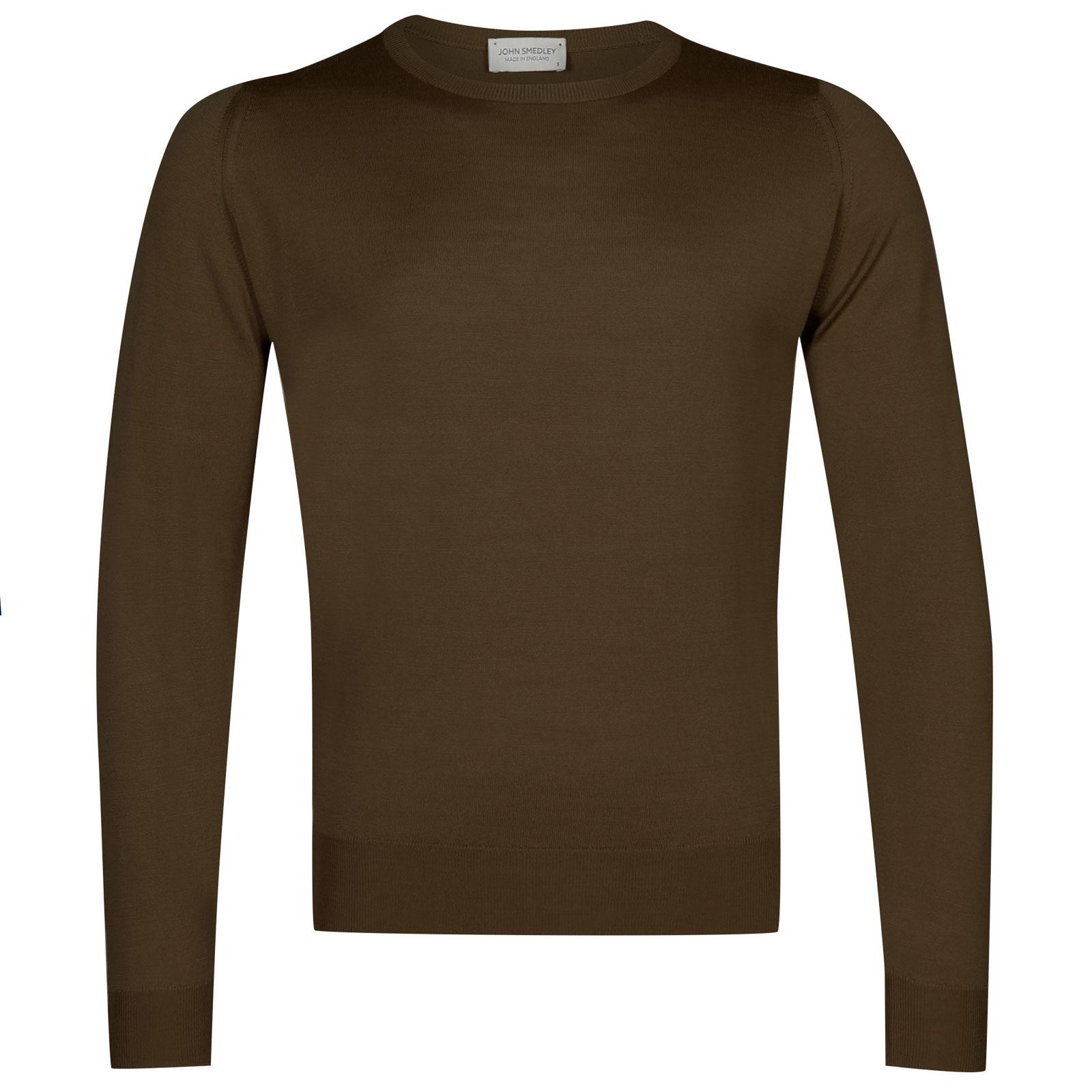 John Smedley sicily Merino Wool Pullover in Kielder Green-S