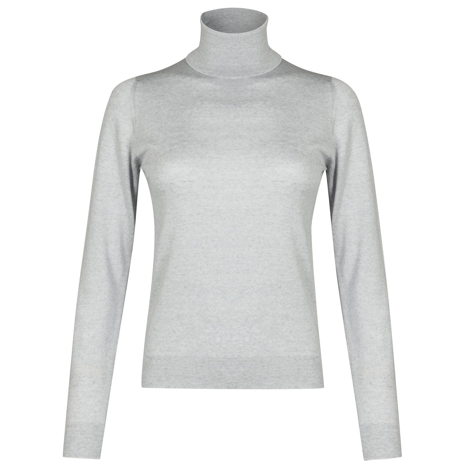 John Smedley siena Merino Wool Sweater in Bardot Grey-M
