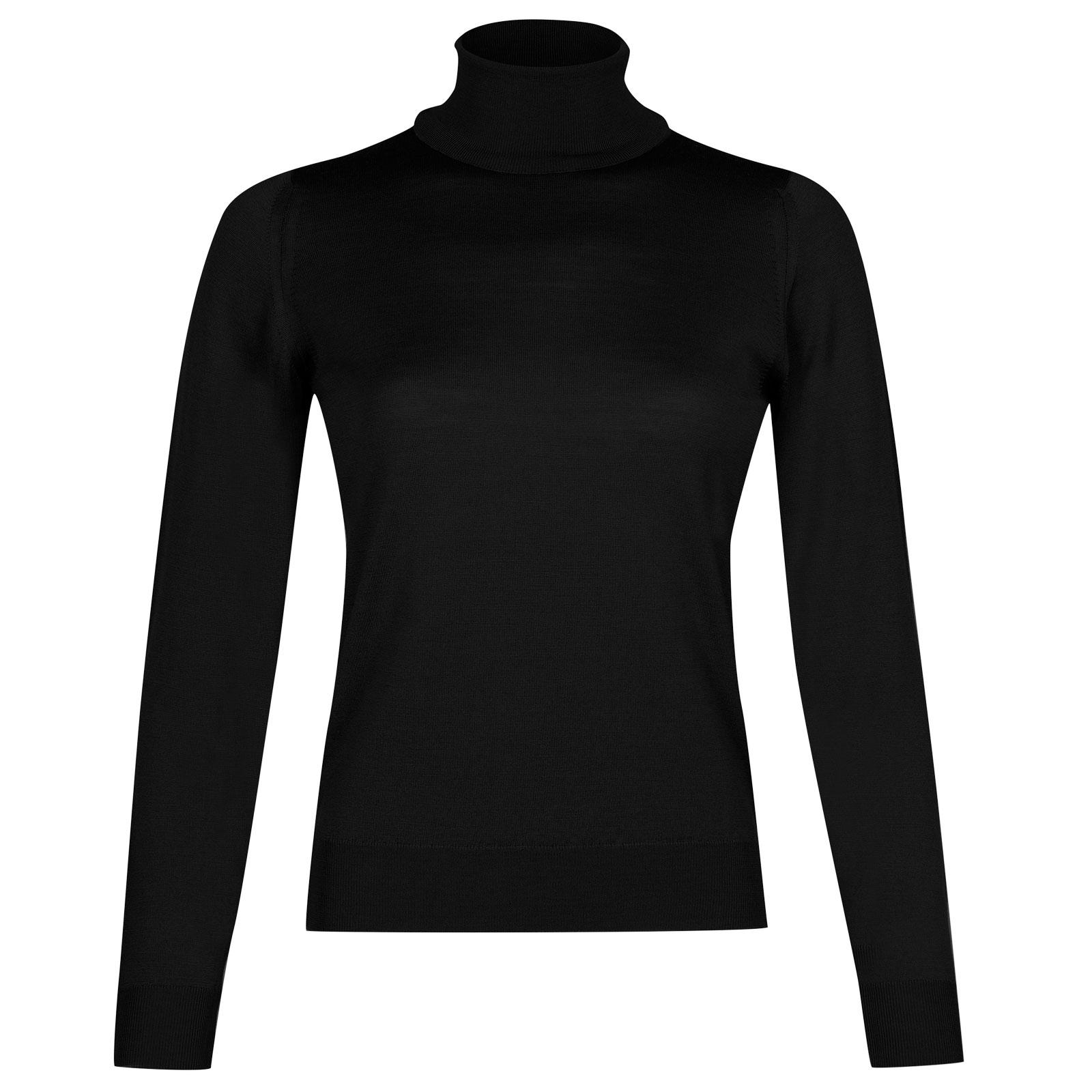 John Smedley siena Merino Wool Sweater in Black-M