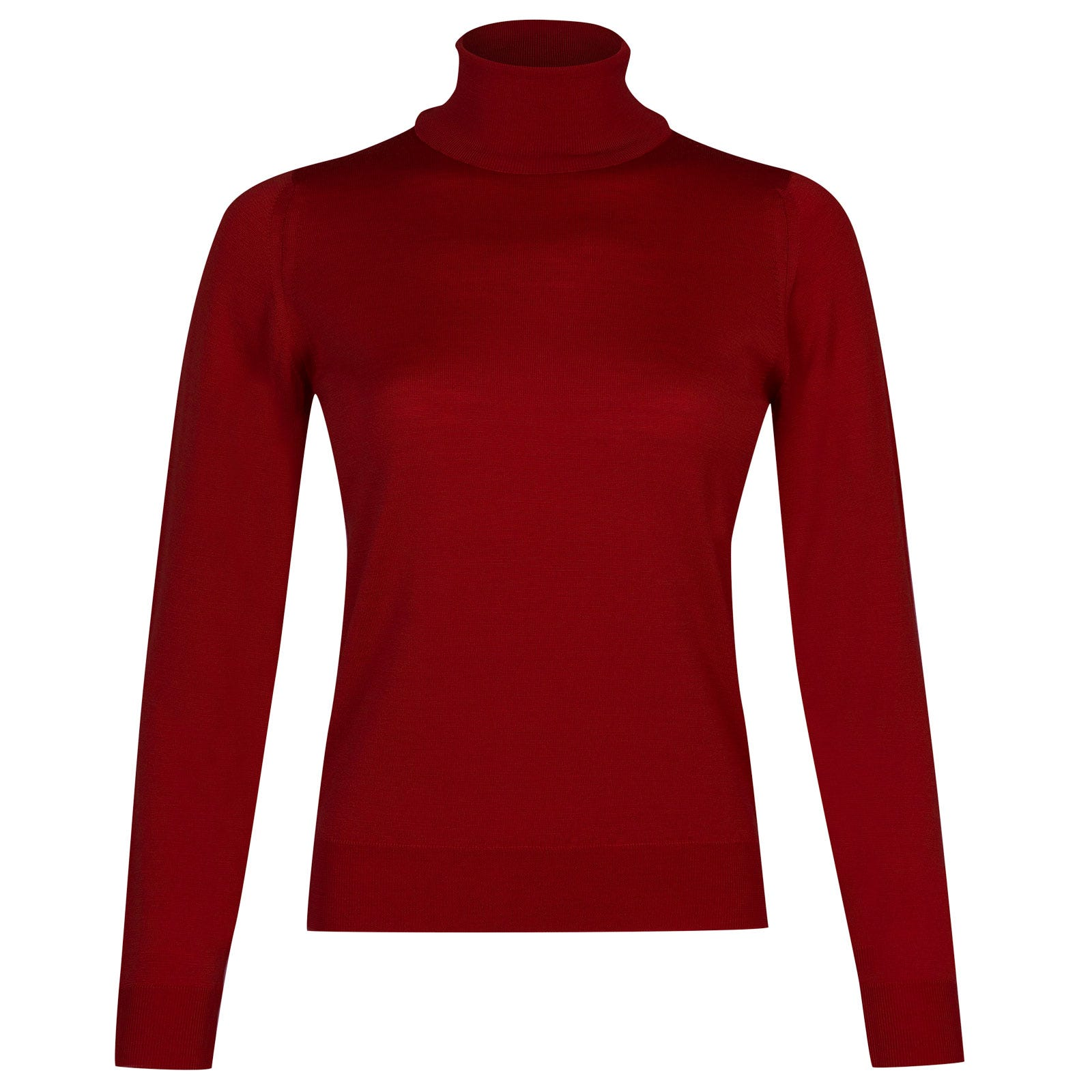 John Smedley siena Merino Wool Sweater in Crimson Forest-M