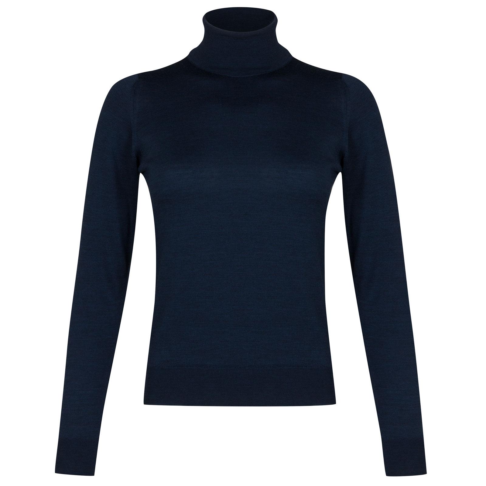 John Smedley siena Merino Wool Sweater in Indigo-S