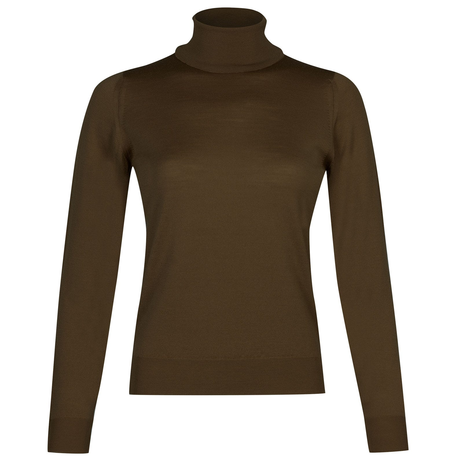 John Smedley siena Merino Wool Sweater in Kielder Green-L