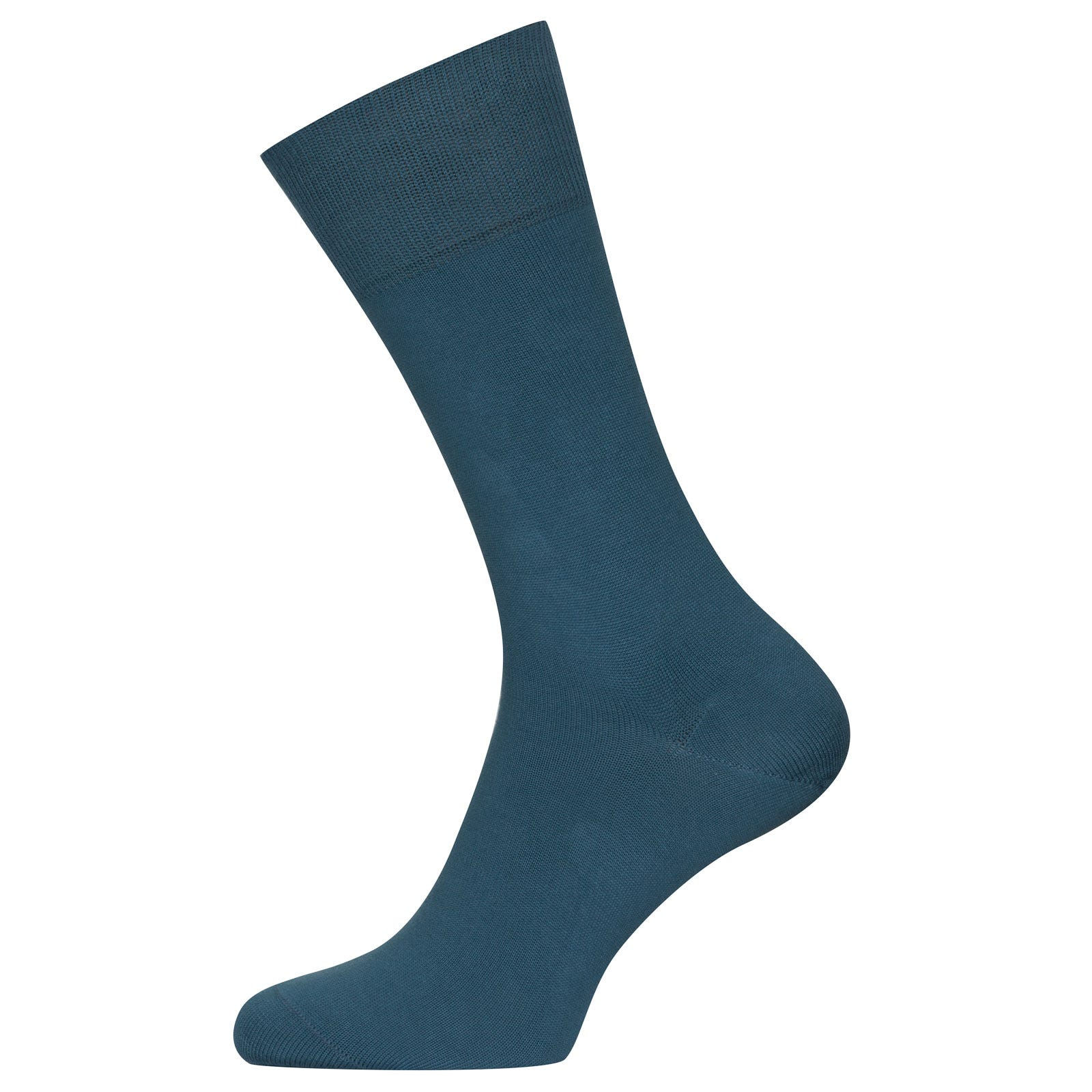 John Smedley Sigma Sea Island Cotton Socks in Bias Blue-S/M