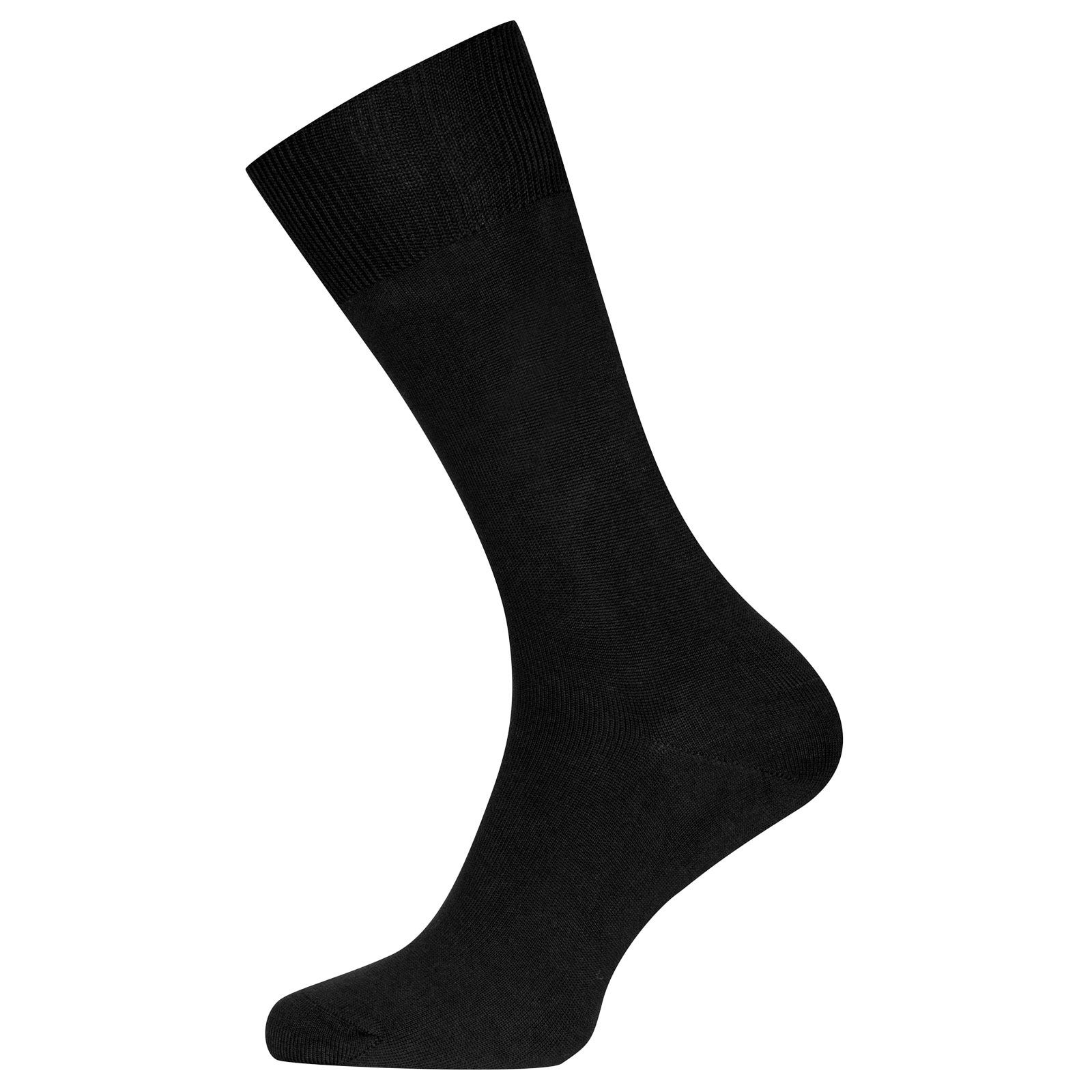 John Smedley Sigma Sea Island Cotton Socks in Black-S/M