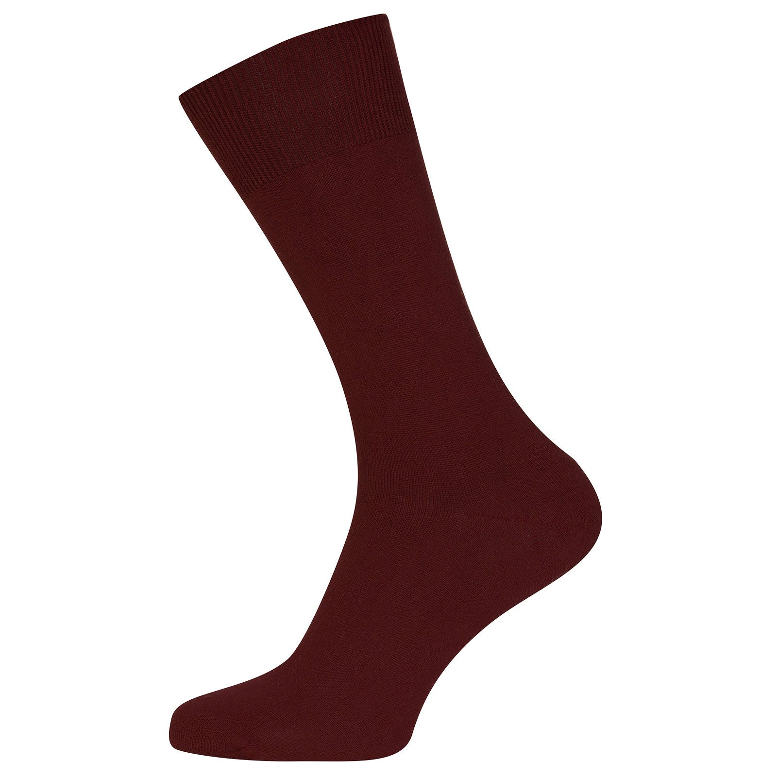 John Smedley Sigma Sea Island Cotton Socks in Burgundy Grain-S/M