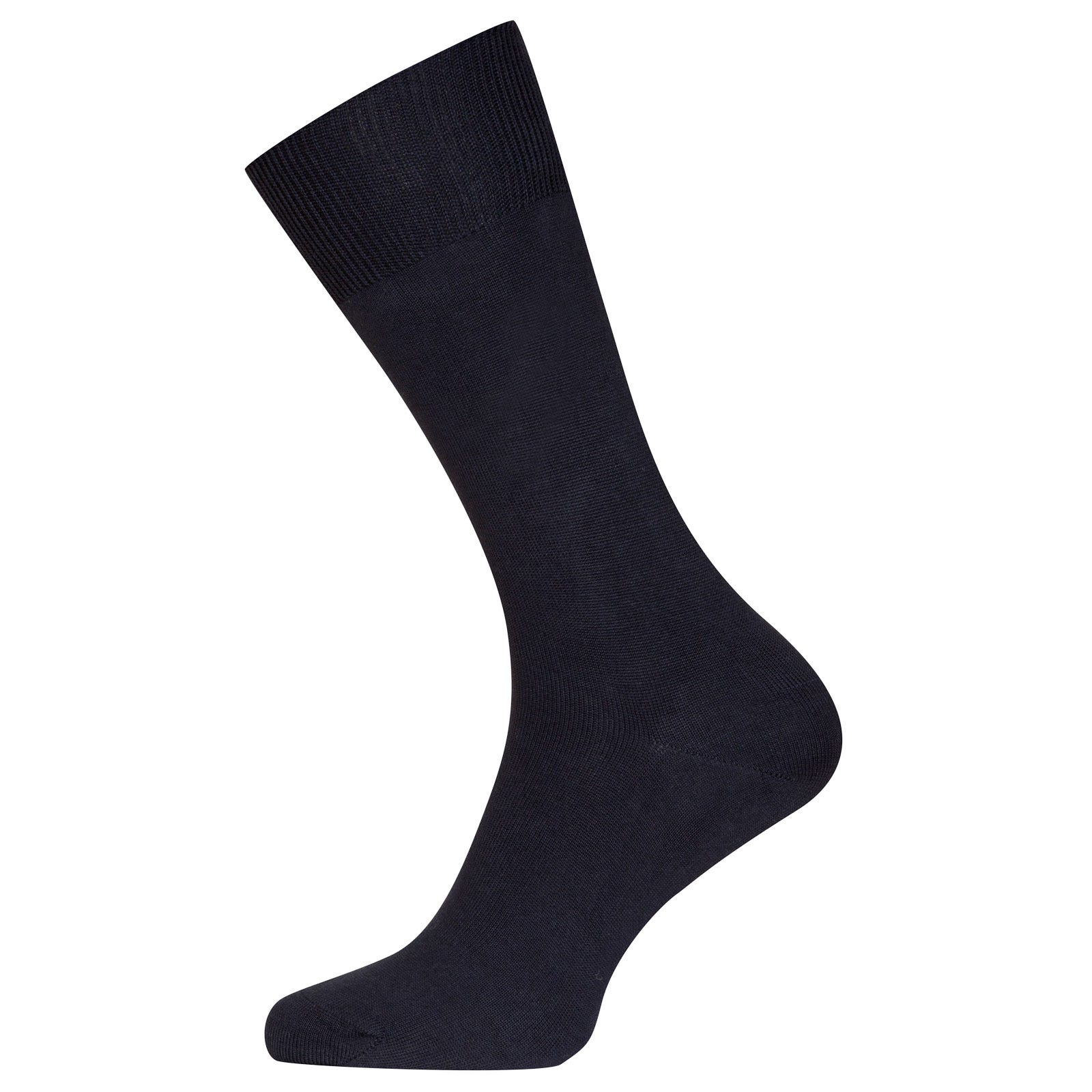 John Smedley Sigma Sea Island Cotton Socks in Navy-S/M