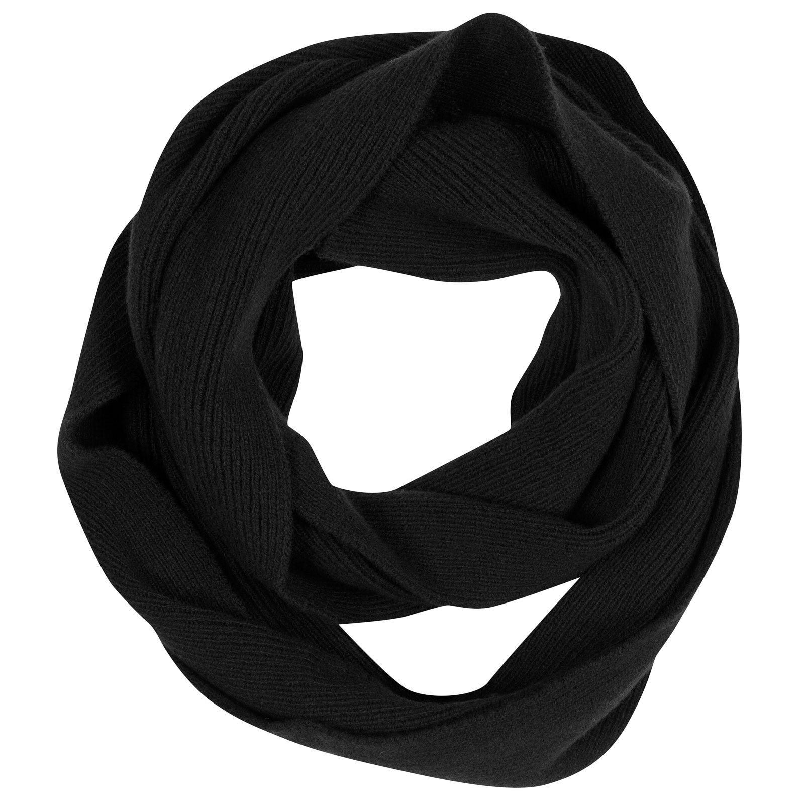 John Smedley solar Wool and Cashmere Scarf in Black-ONE