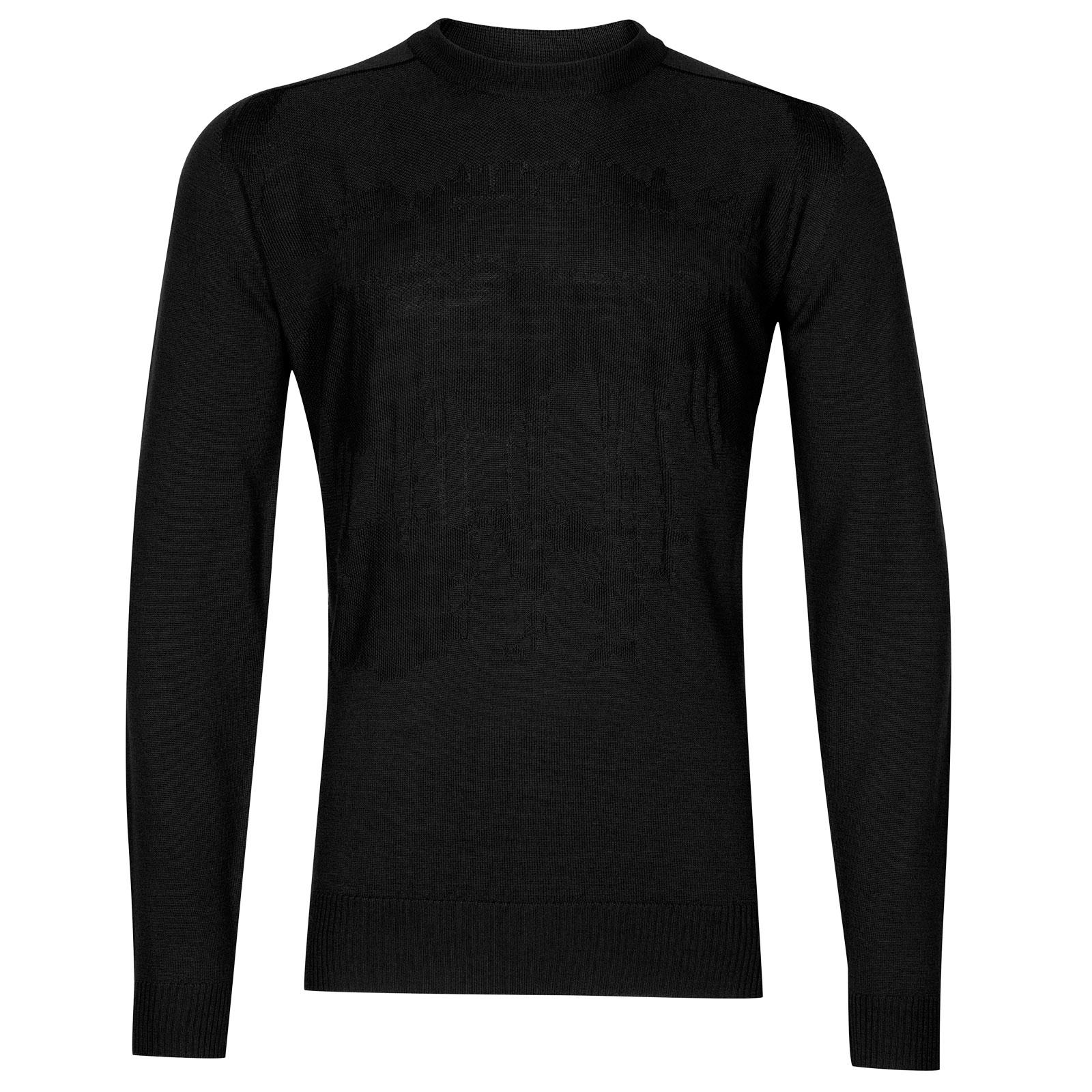 John Smedley sorbus Merino Wool Pullover in Black-S