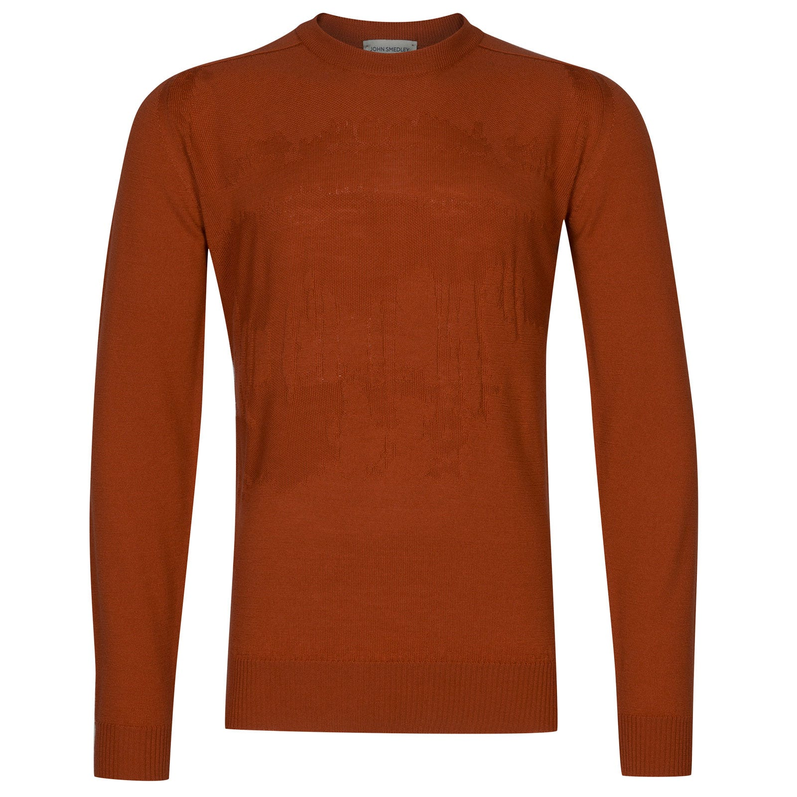 John Smedley sorbus Merino Wool Pullover in Flare Orange-M