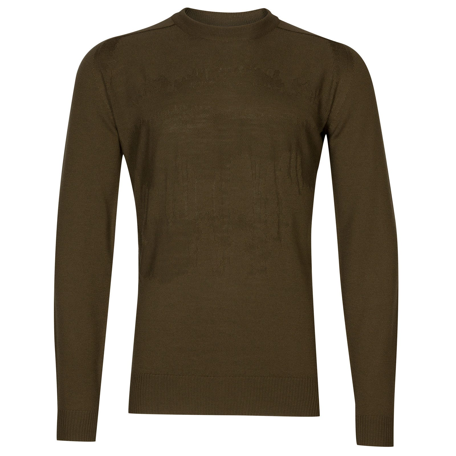 John Smedley sorbus Merino Wool Pullover in Kielder Green-L