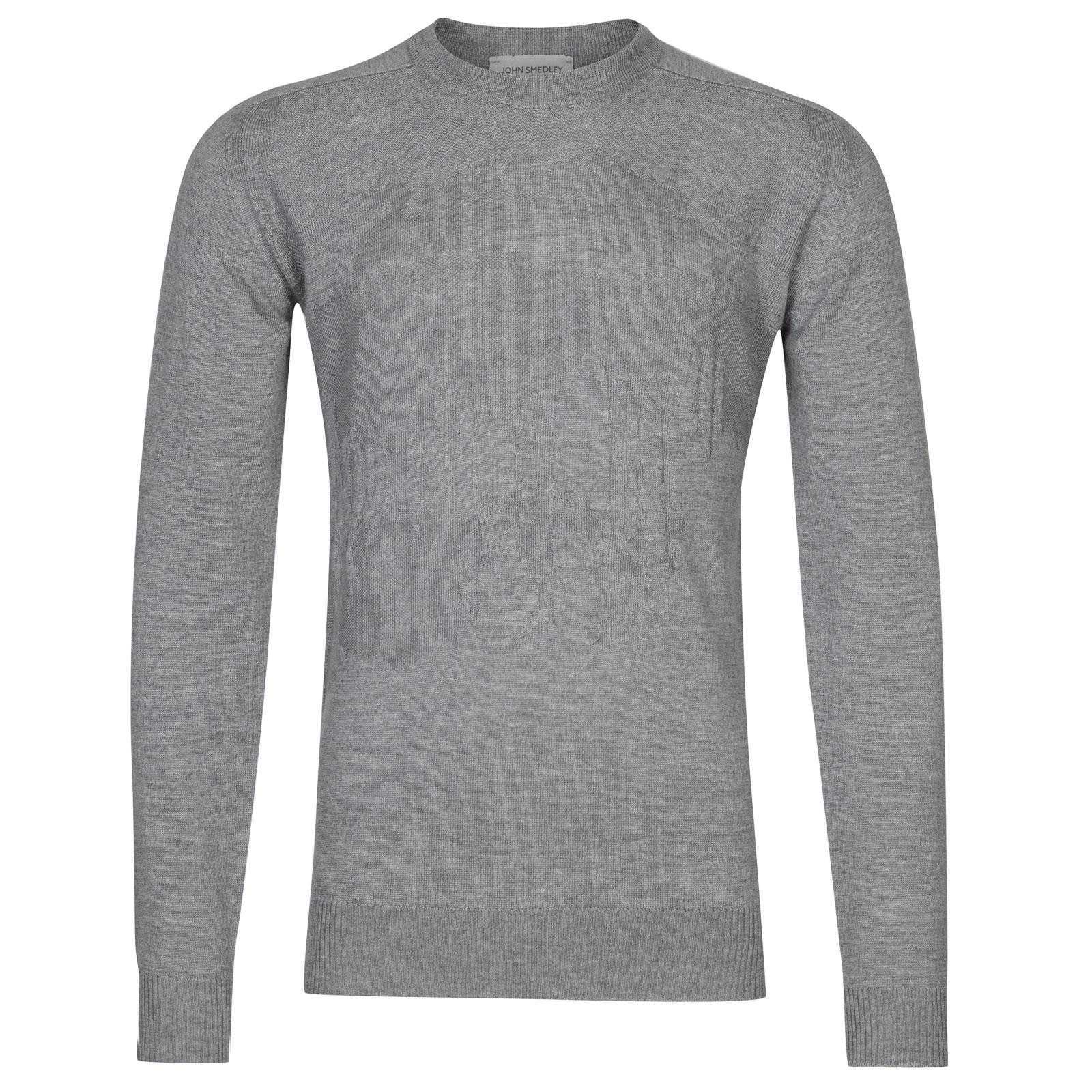 John Smedley sorbus Merino Wool Pullover in Silver-XXL