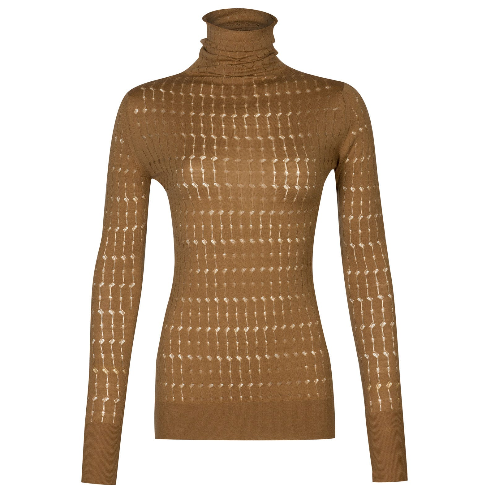 John Smedley spindel Merino Wool Sweater in Camel-S
