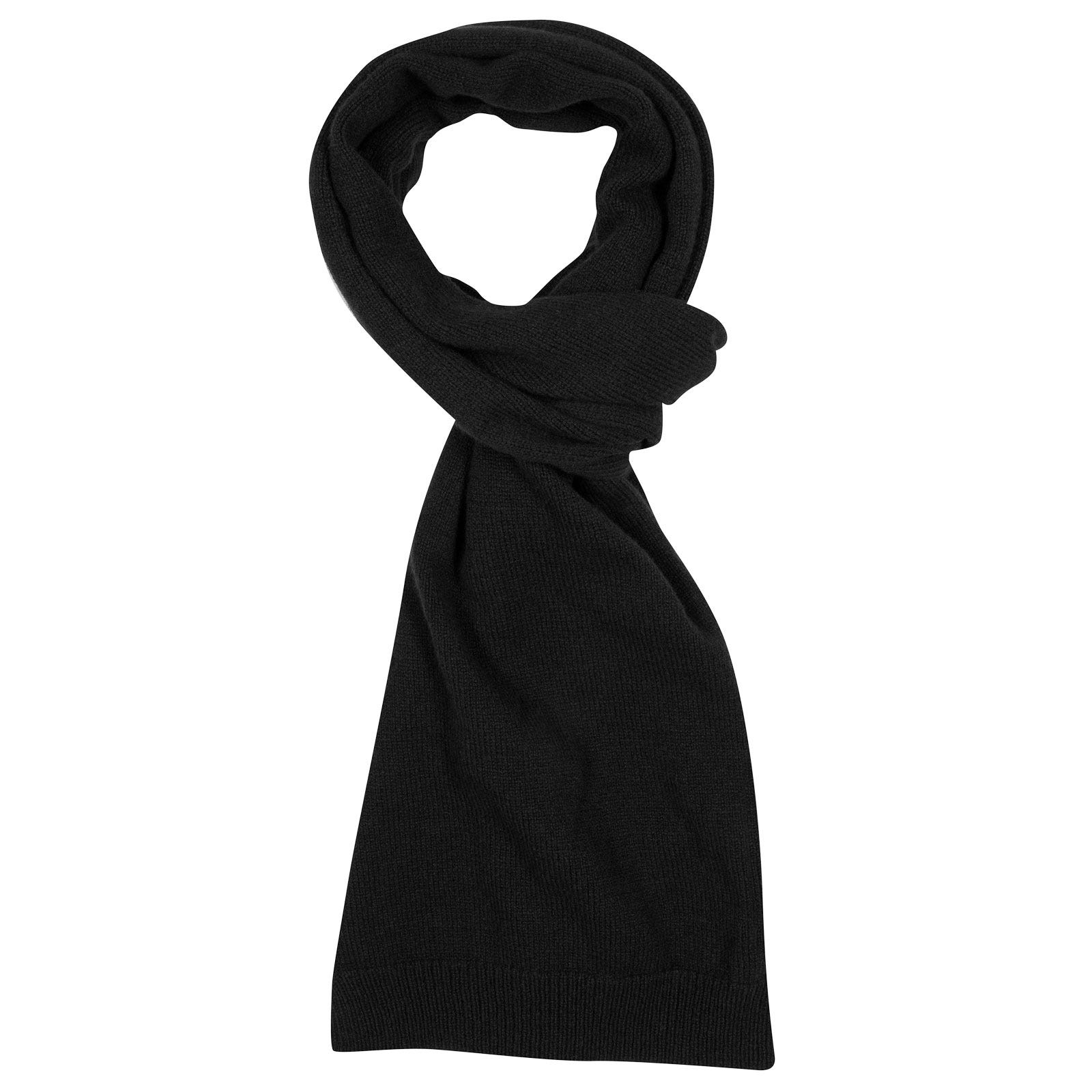 John Smedley star Wool and Cashmere Scarf in Black-ONE