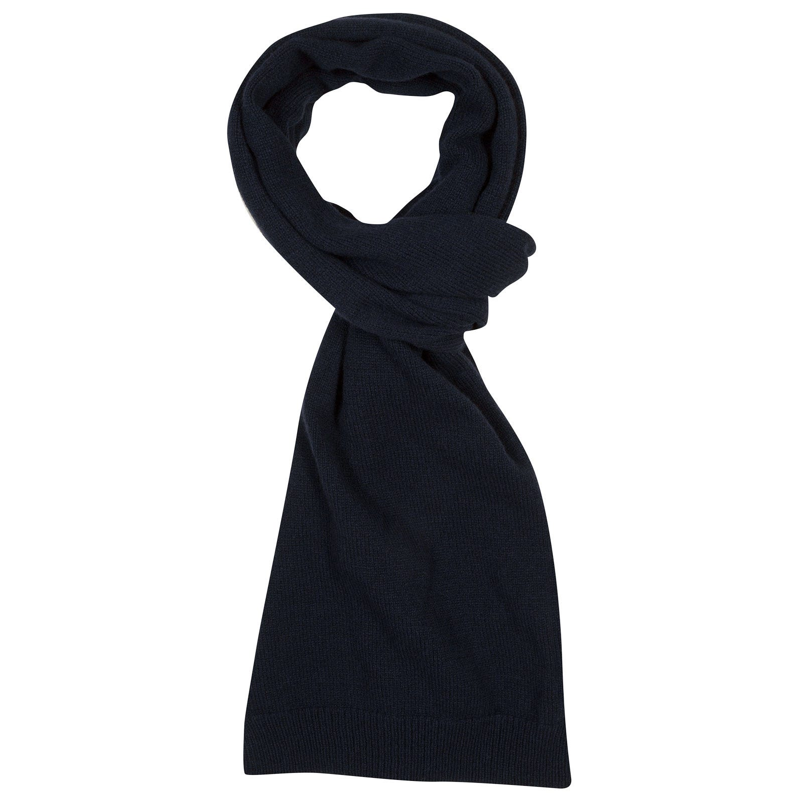 John Smedley star Wool and Cashmere Scarf in Midnight-ONE