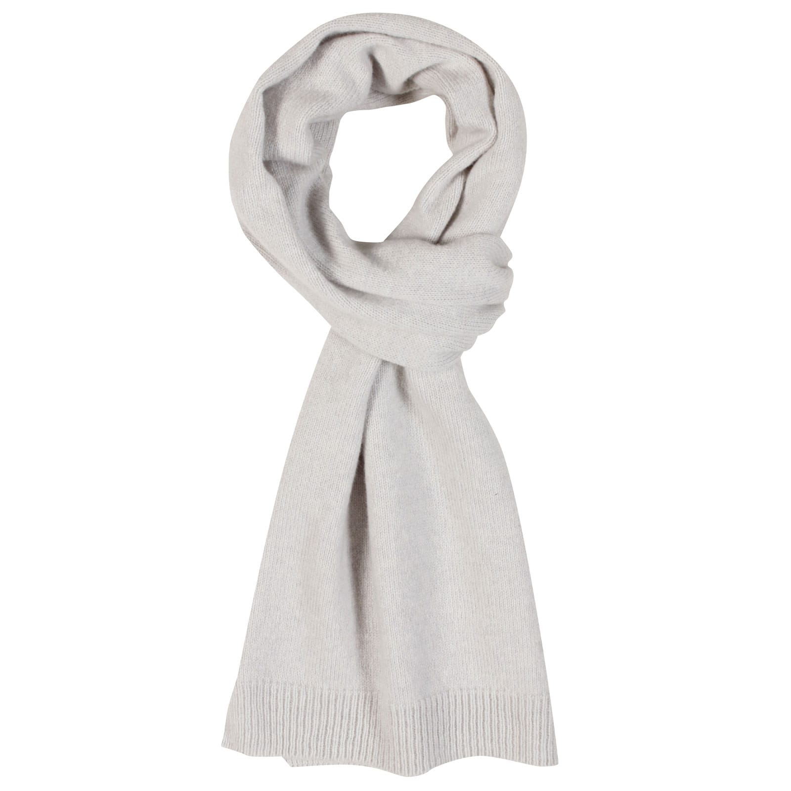 John Smedley star Wool and Cashmere Scarf in Soft Grey-ONE