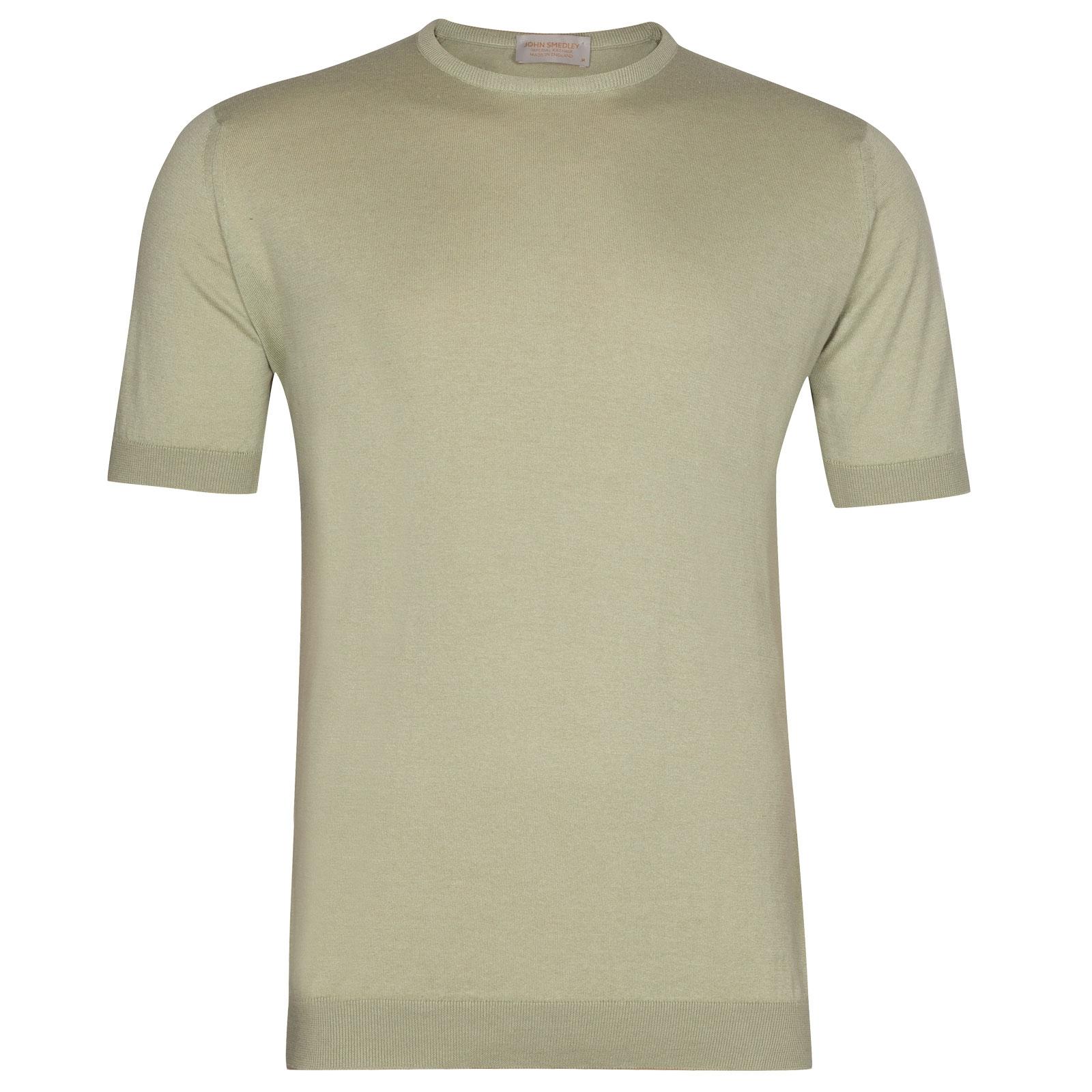 John Smedley Stonwell in Burlap Green T-Shirt-XXL