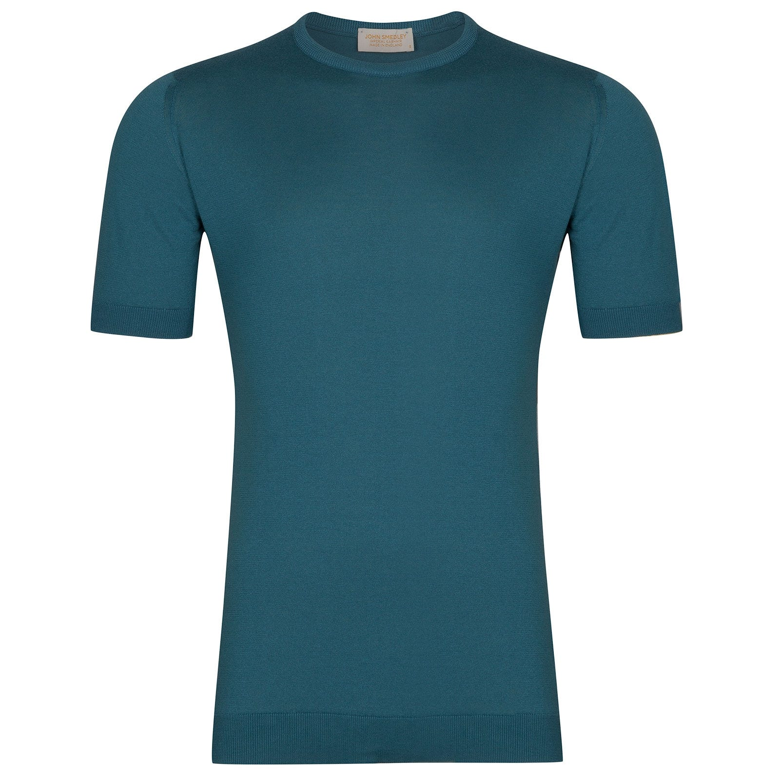 John Smedley Stonwell Sea Island Cotton and Cashmere T-Shirt in Bias