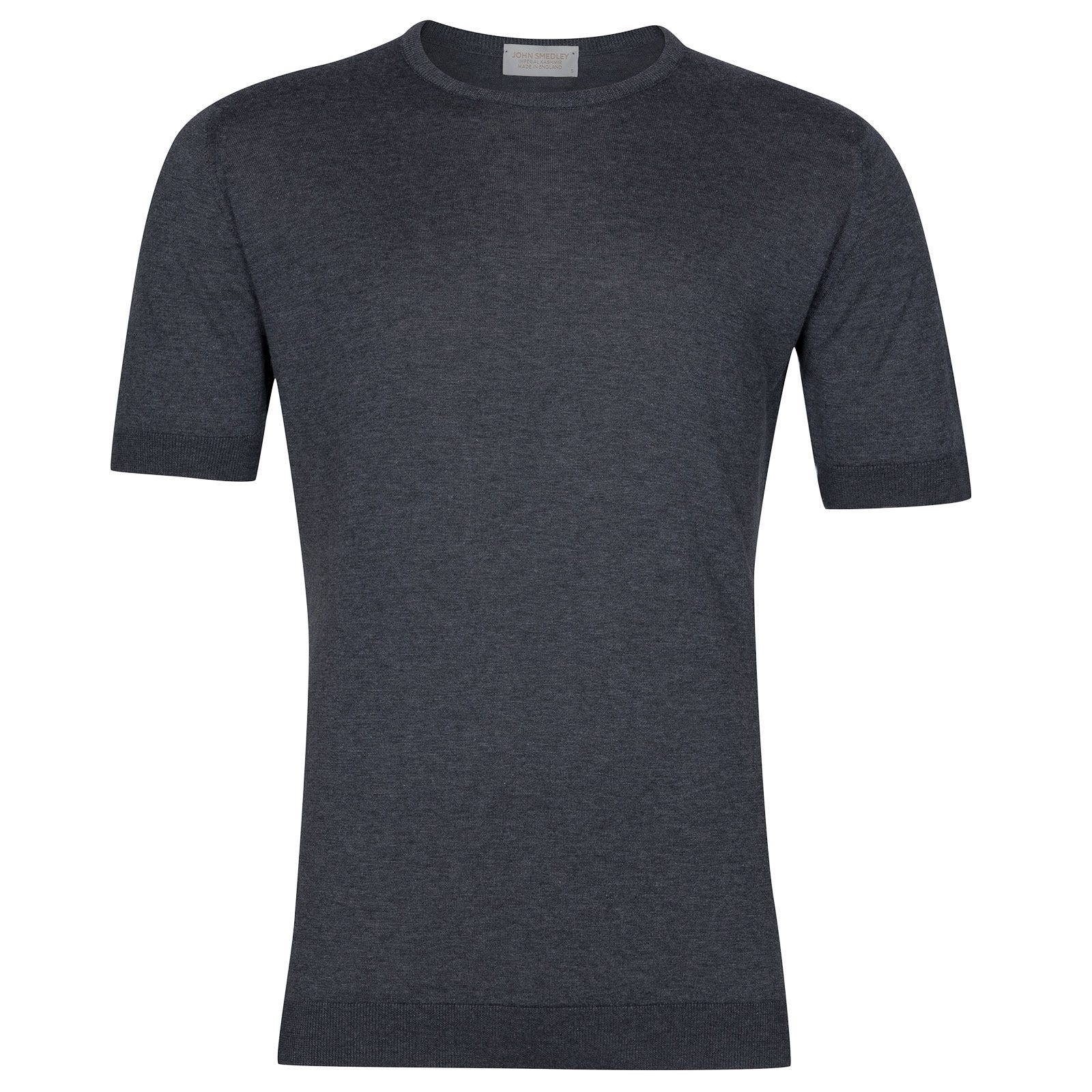 John Smedley Stonwell in Charcoal T-Shirt-SML